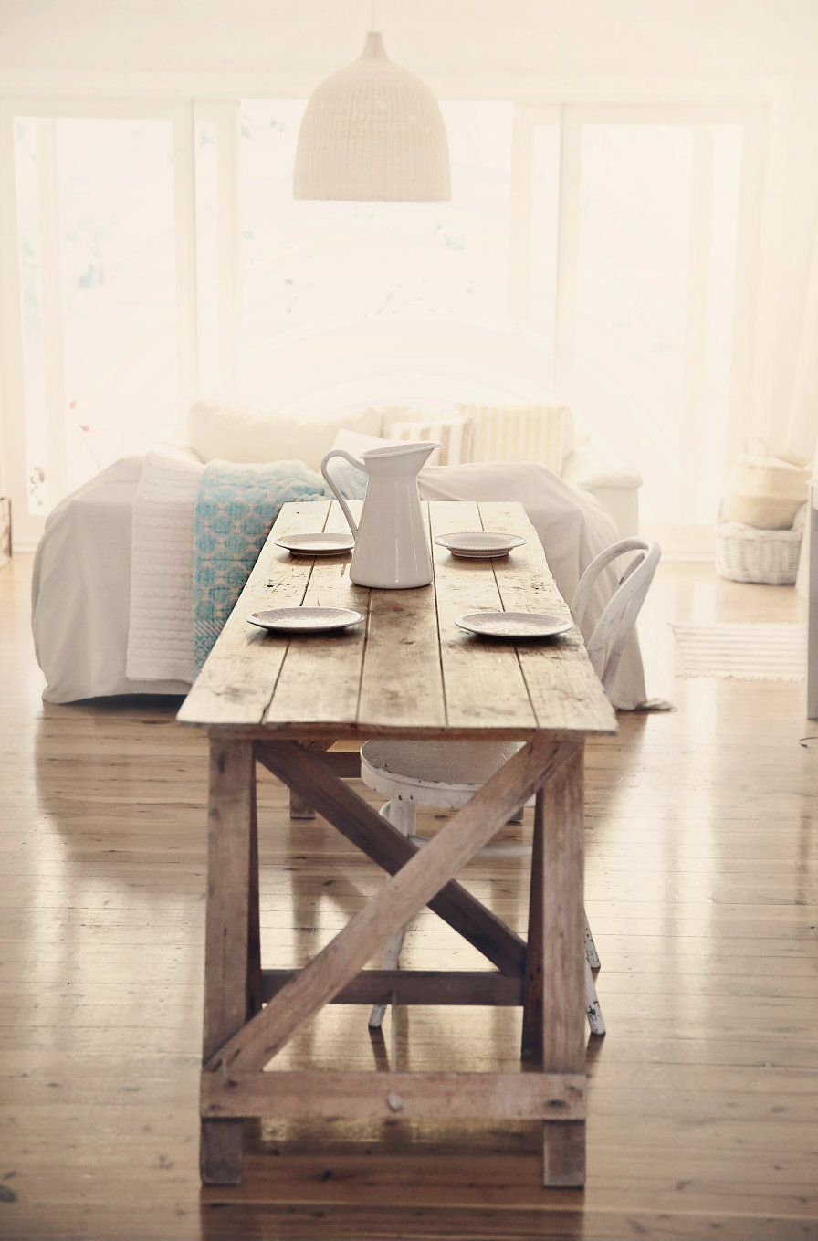 Most Popular Small Rustic Look Dining Tables Regarding Treasure Hunting Beach Cottage Farmhouse Table For Coastal (View 4 of 30)