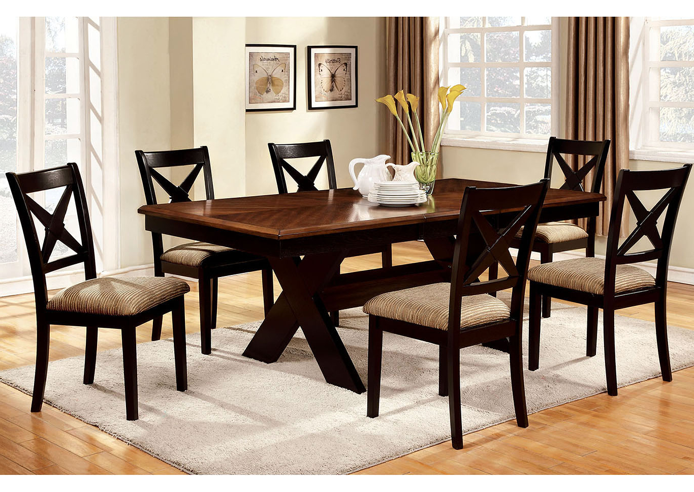 Most Popular Transitional 6 Seating Casual Dining Tables Within Foothills Family Furniture Liberta Extension Leaf Dining (Gallery 19 of 30)