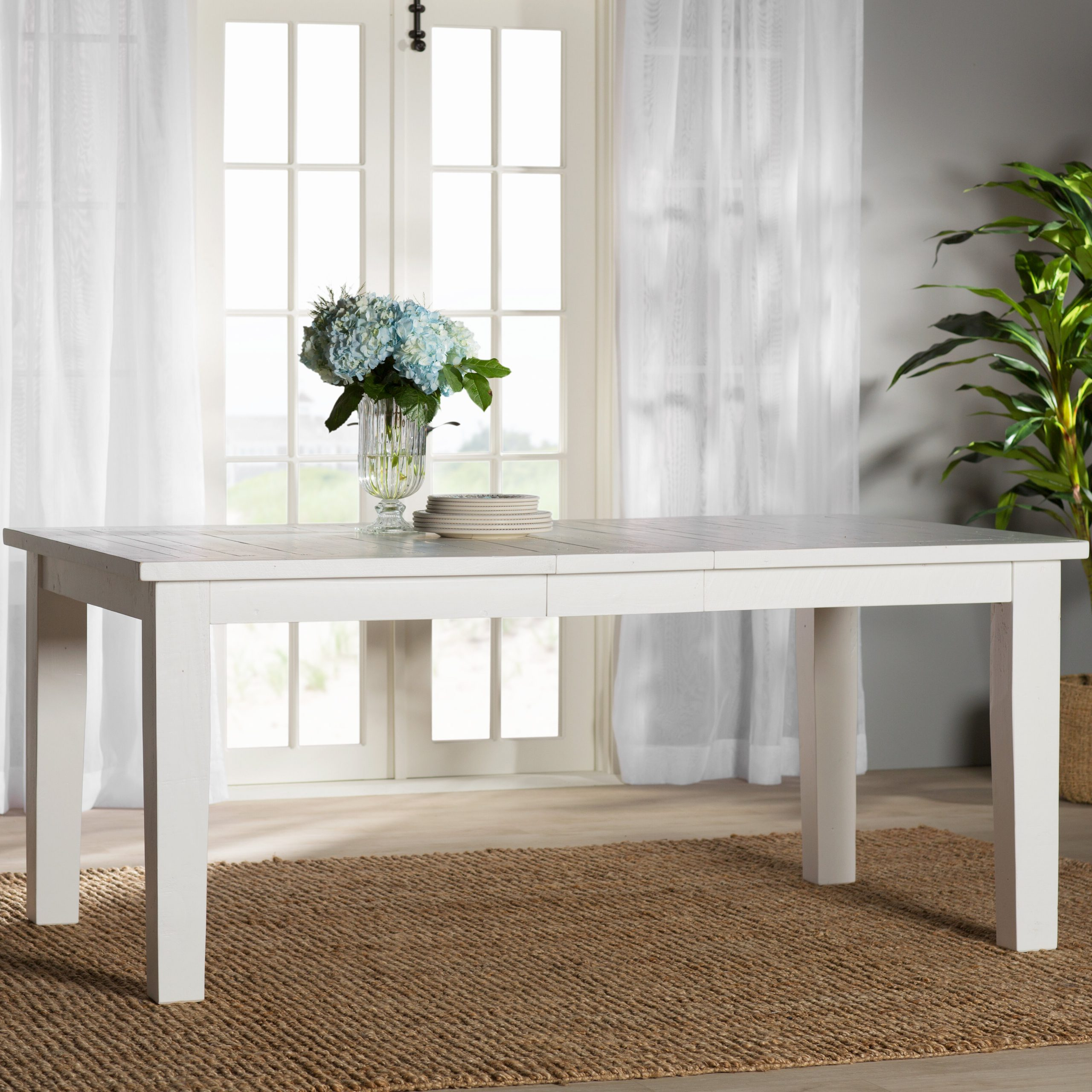Most Popular Zeinab Rectangle Extendable Solid Wood Dining Table Within Rectangular Dining Tables (View 6 of 30)