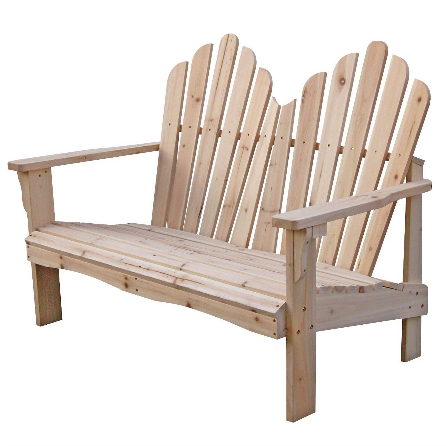 Most Recent 2 Person Natural Cedar Wood Outdoor Gliders Intended For Cedar Wood Outdoor Patio 2 Seat Adirondack Chair Style (Gallery 28 of 30)