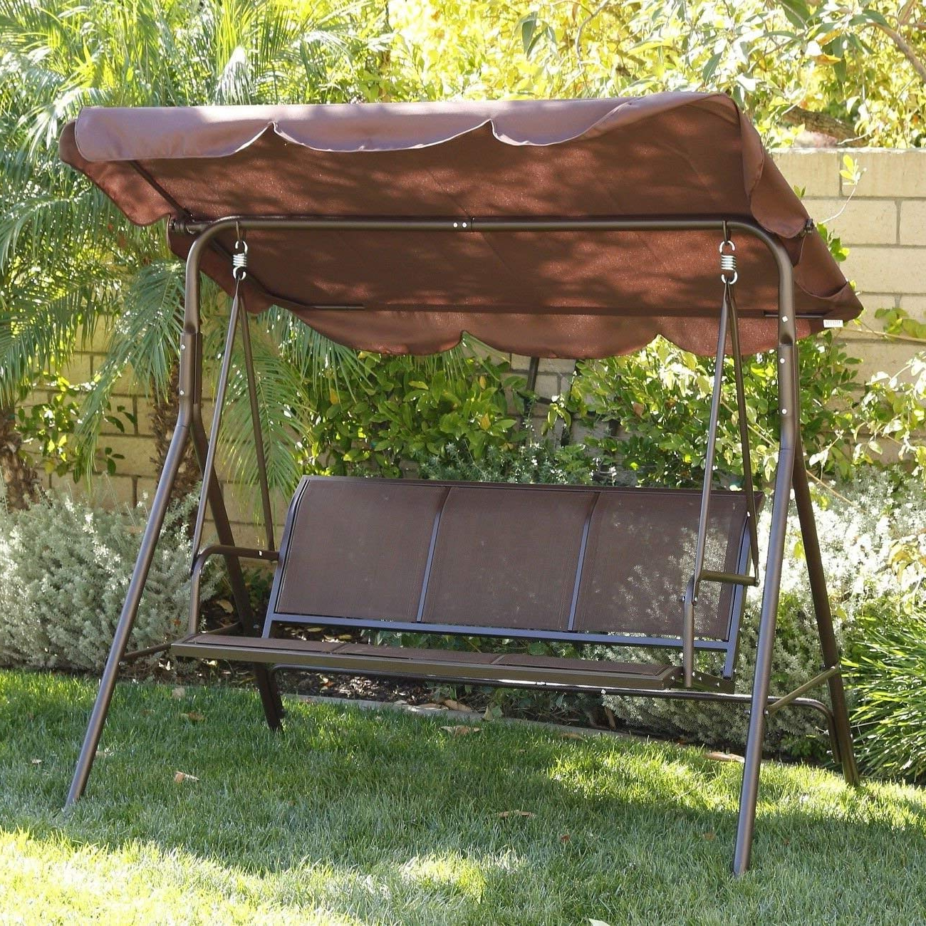 Most Recent 3 Person Brown Steel Outdoor Swings Pertaining To Cheap Steel Frame Swing Set, Find Steel Frame Swing Set (View 29 of 30)