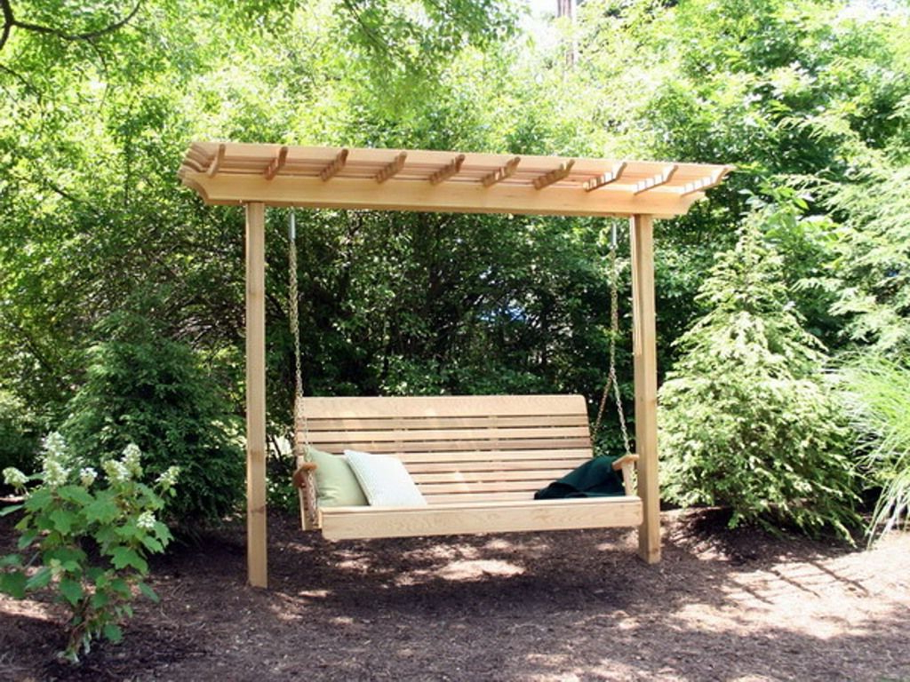 Featured Photo of Pergola Porch Swings With Stand