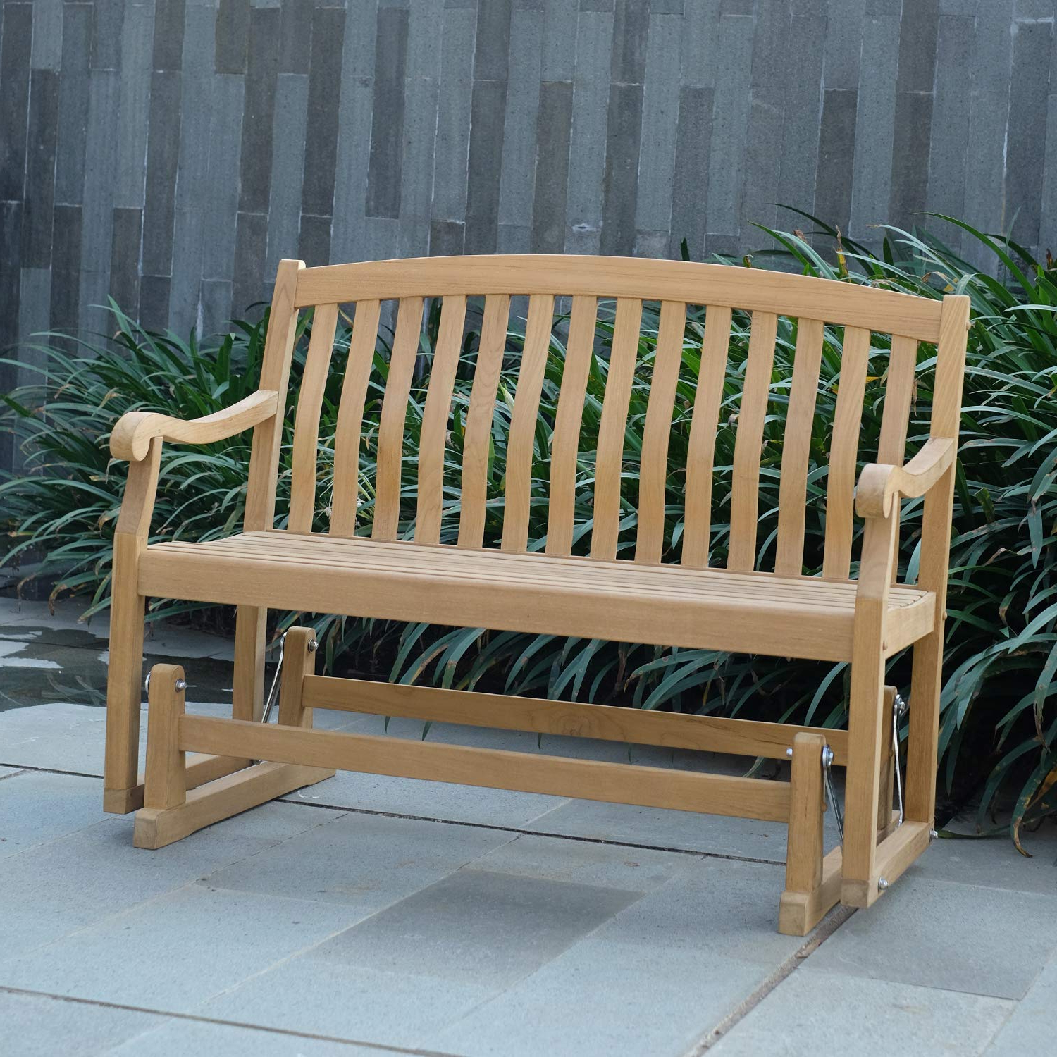 Most Recent Cambridge Casual Amz 130572t Arie Teak Glider Bench Intended For Teak Glider Benches (Gallery 8 of 30)