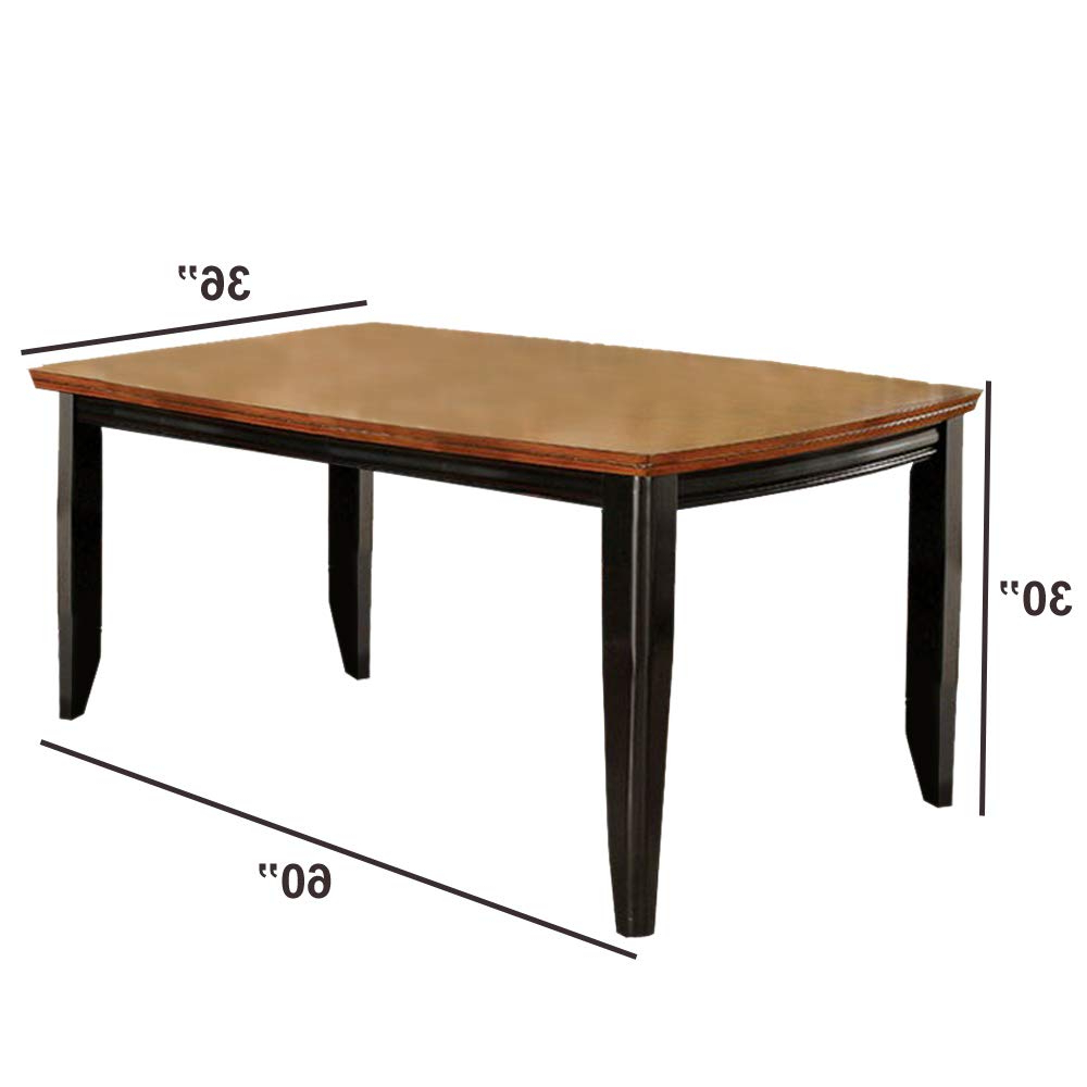 Most Recent Charcoal Transitional 6 Seating Rectangular Dining Tables For Amazon – Benjara Transitional Dining Table, Brown (View 3 of 30)