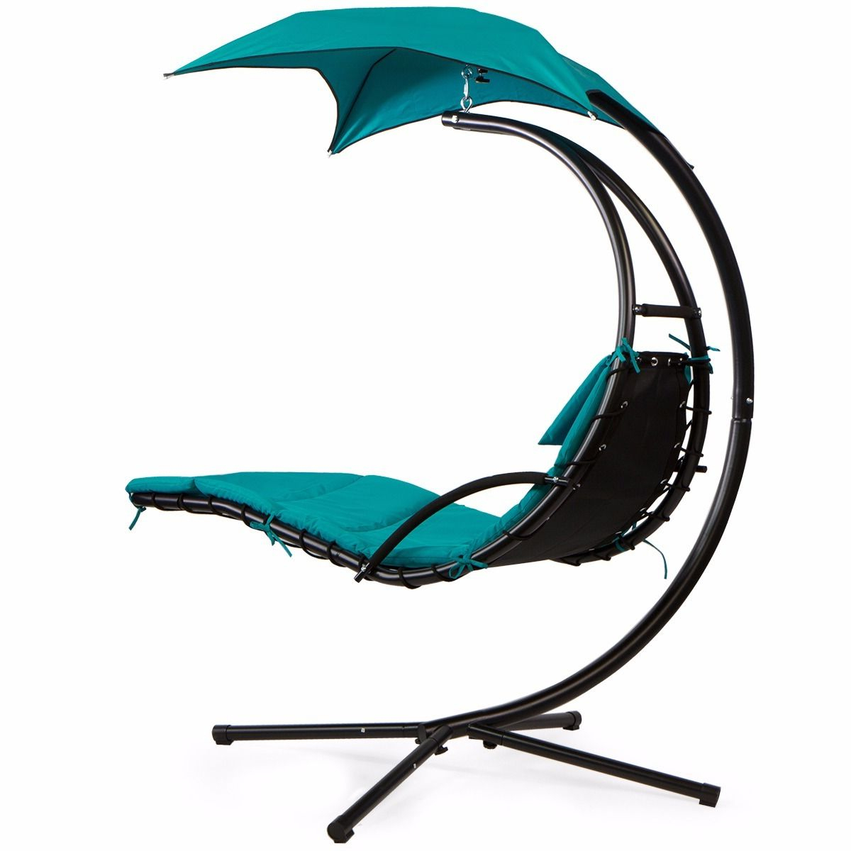Most Recent Details About Barton Patio Hanging Helicopter Dream Lounger Chair Stand Swing Hammock Chair For Outdoor Pvc Coated Polyester Porch Swings With Stand (Gallery 19 of 30)