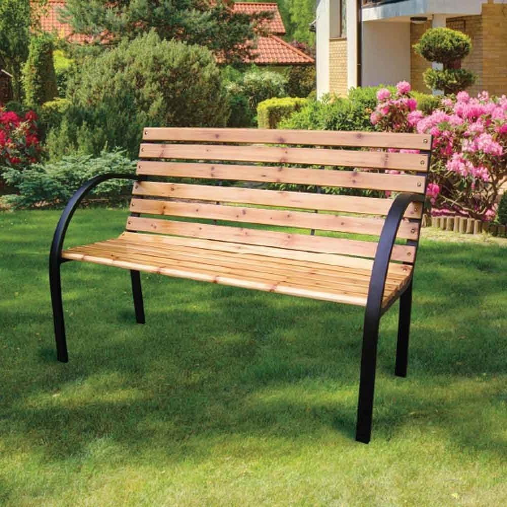 Most Recent Fir Wood Garden Bench With Regard To Wood Garden Benches (View 12 of 30)