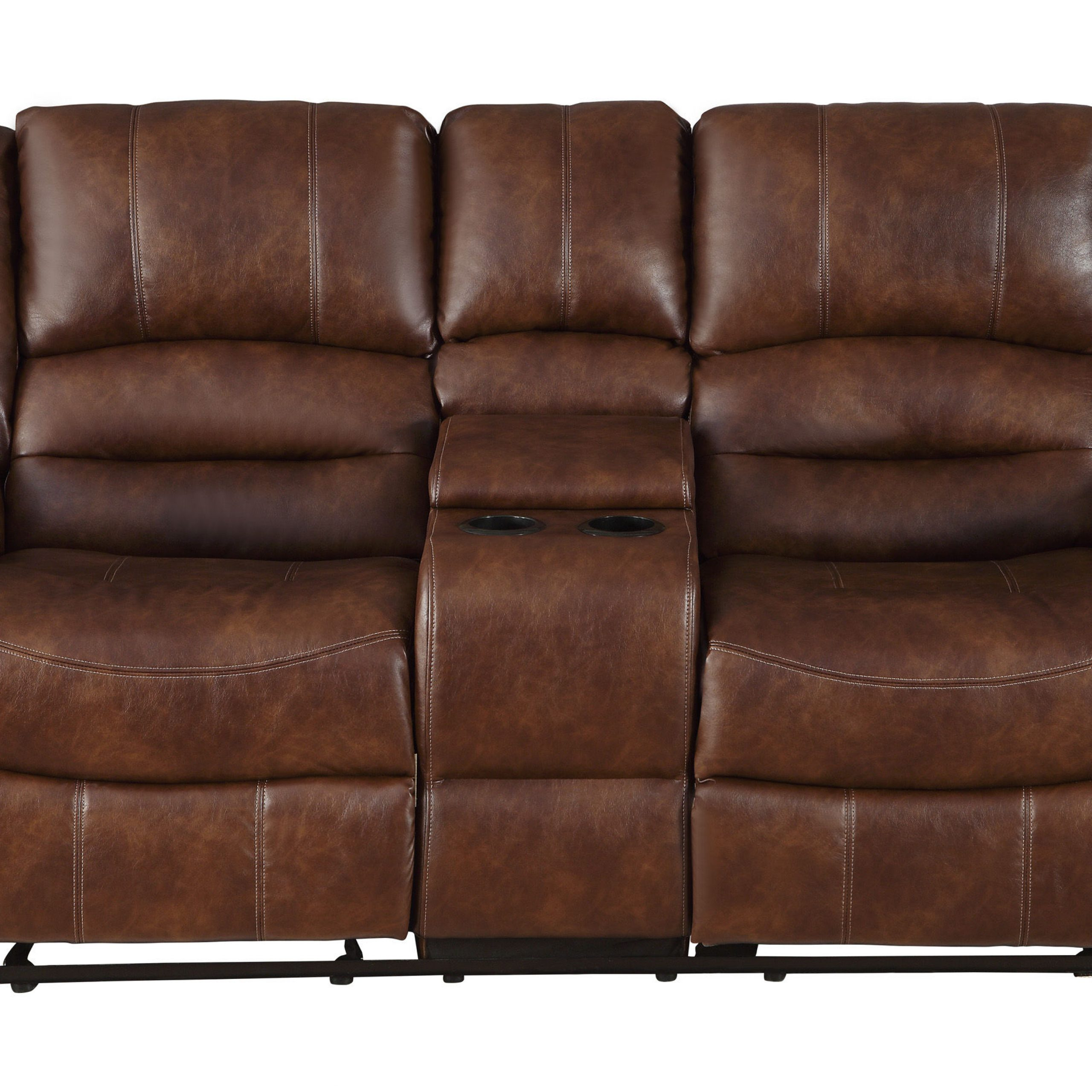 Most Recent Home Elegance Center Hill Saddle Double Glider Reclining With Regard To Double Glider Loveseats (View 22 of 30)