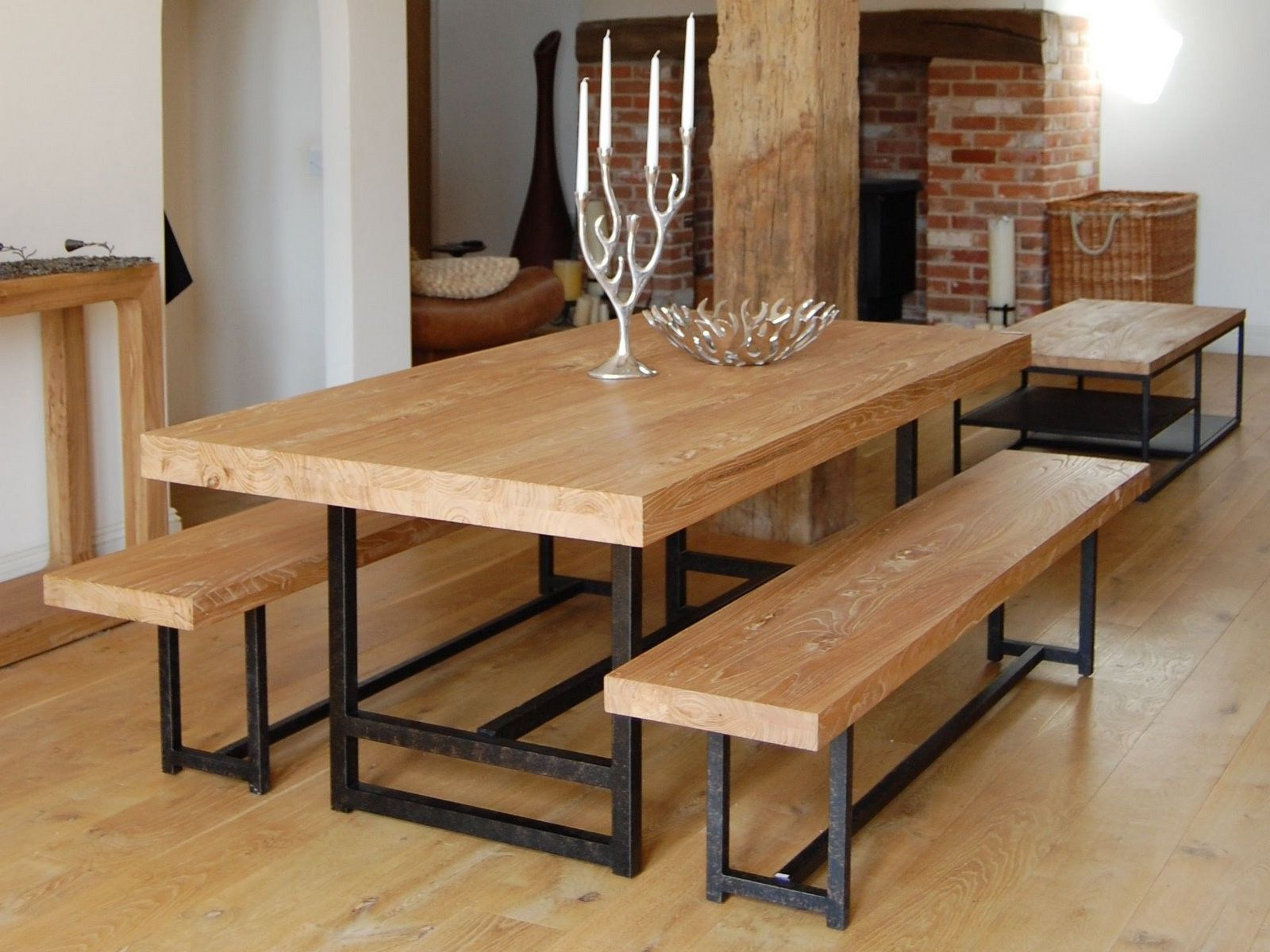 Most Recent Iron Wood Dining Tables Within Wonderful Dark Brown Black Wood Modern Design Wood Furniture (Gallery 8 of 30)