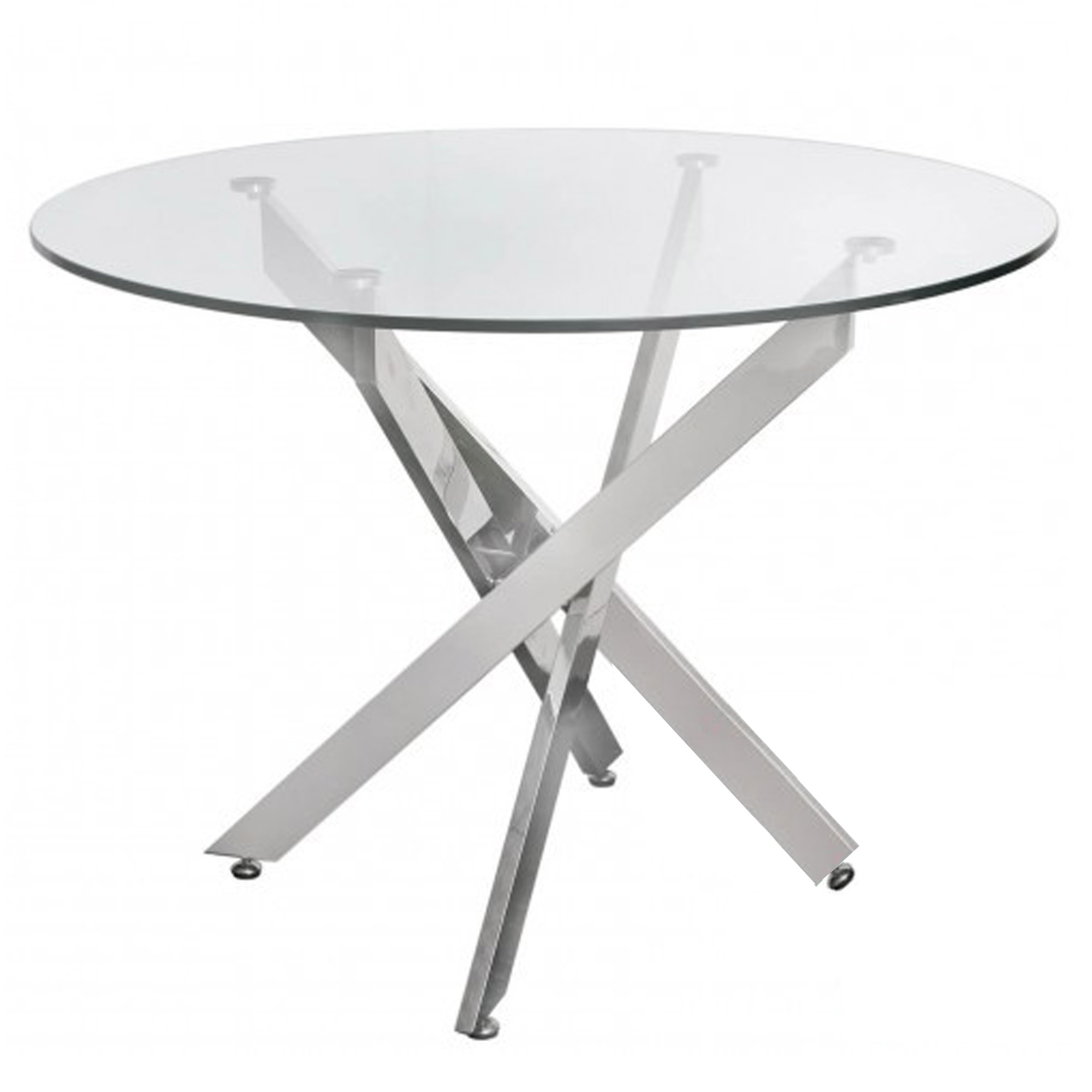Most Recent Medium Dining Tables Inside Prato Medium Round Glass Dining Table (View 19 of 30)