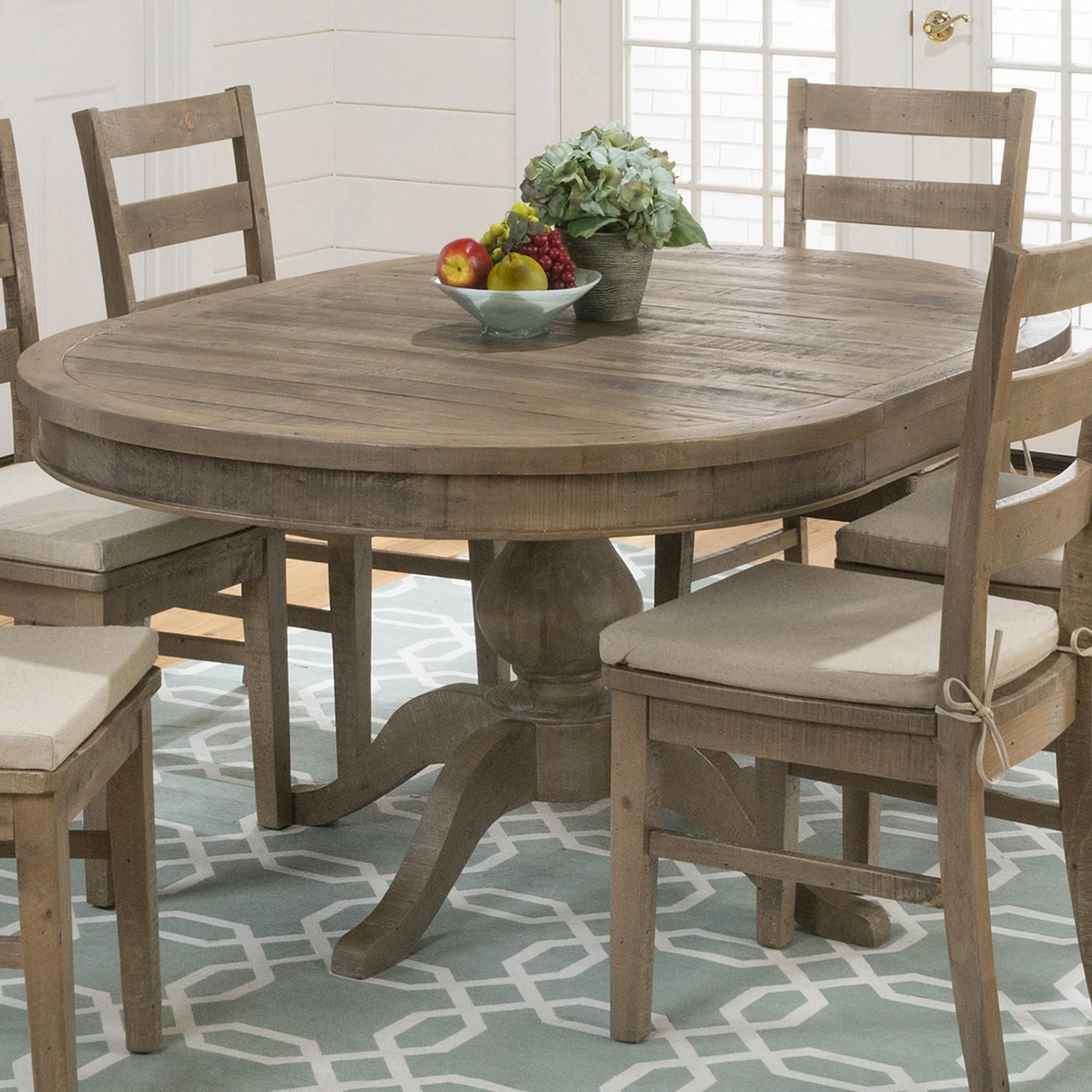 Most Recent Morris Round Dining Tables In Slater Mill Pine Reclaimed Pine Round To Oval Dining Table (Gallery 7 of 30)