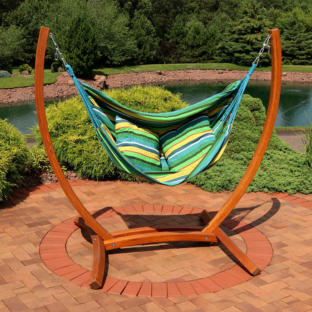 Most Recent Outdoor Wicker Plastic Half Moon Leaf Shape Porch Swings Intended For Freeport Park Barrett Hanging Hammock Chair Porch Swing With (View 6 of 30)