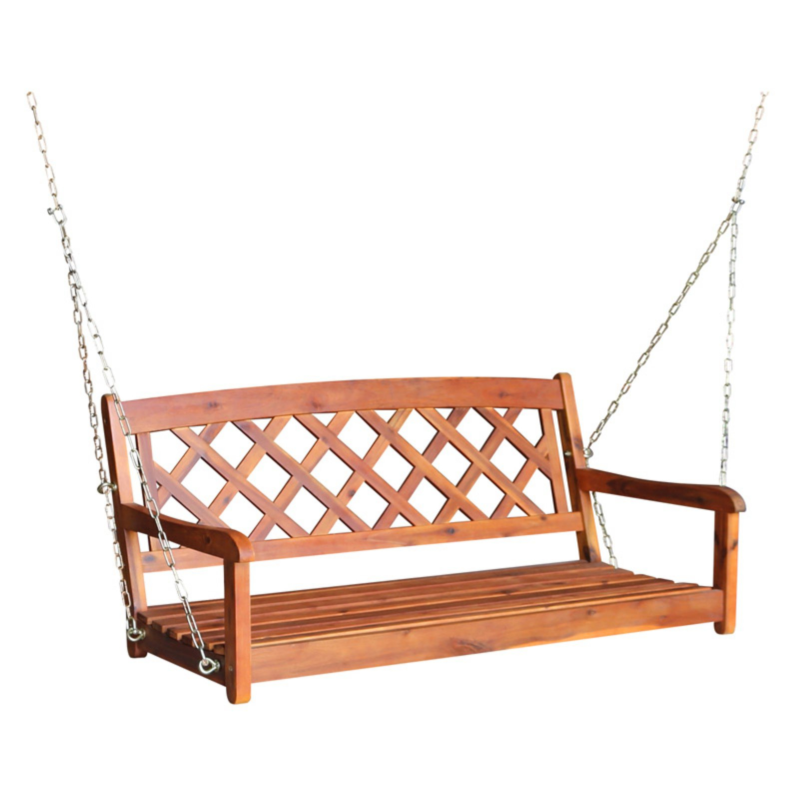 Most Recent Porch Swings With Chain Within International Concepts X Back Porch Swing With Chain In (View 18 of 30)