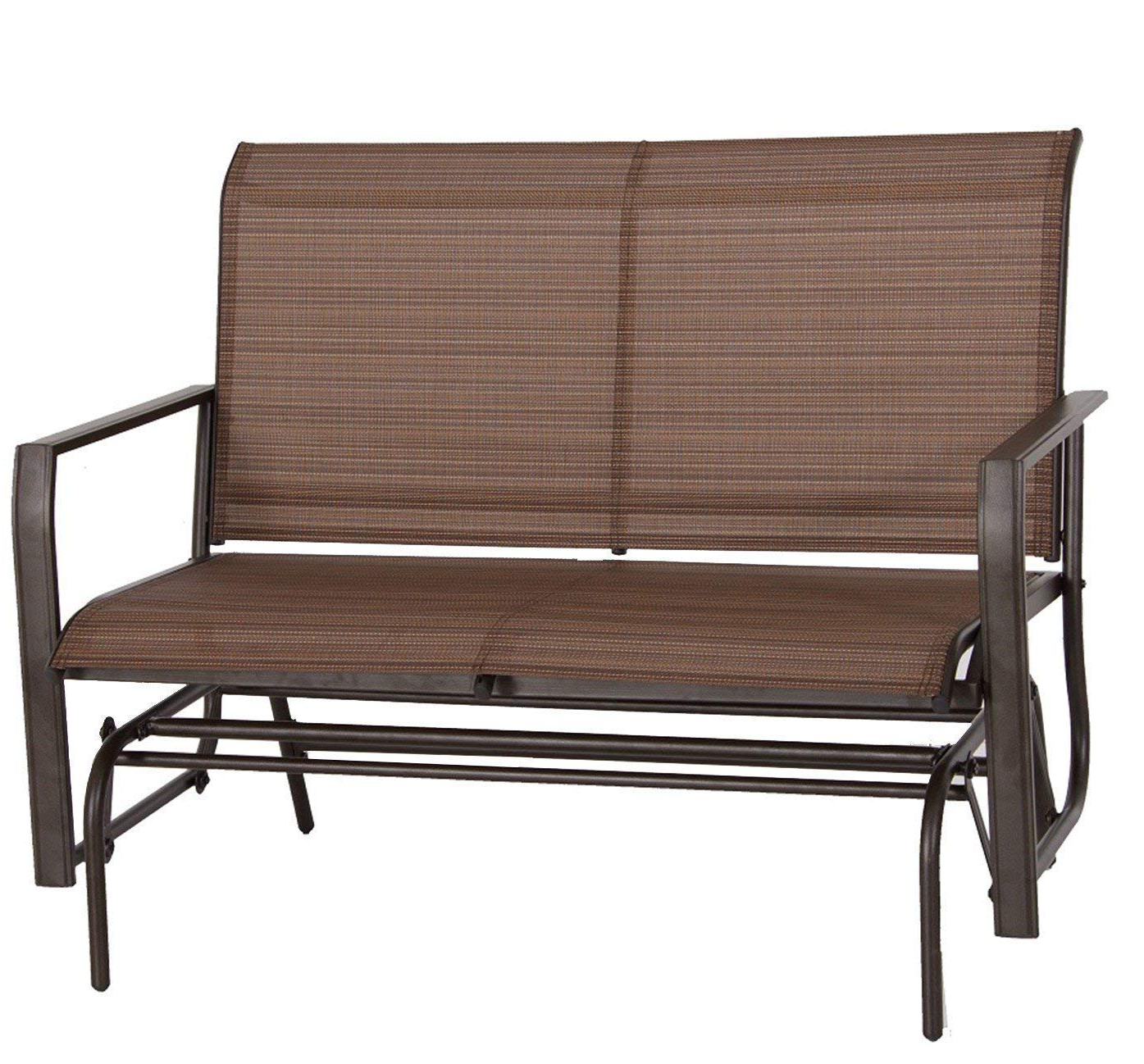 Most Recent Rocking Love Seats Glider Swing Benches With Sturdy Frame For Kozyard Cozy Two Rocking Love Seats Glider Swing Bench/rocker For Patio, Yard With Textilence Seats And Sturdy Frame (tan) (View 1 of 30)