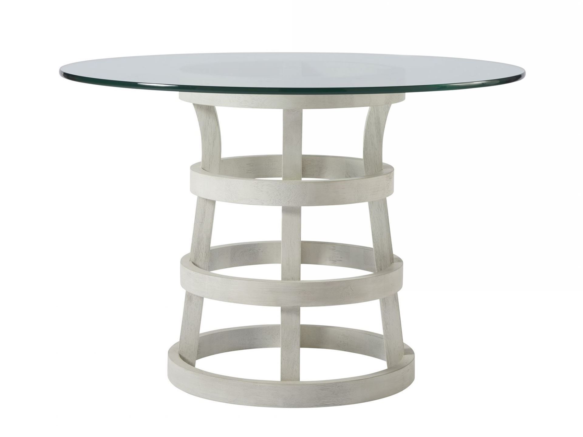 "Most Recent Round Glass Top Dining Tables Throughout Escape 44"" Round Glass Top Table (Gallery 15 of 30)"