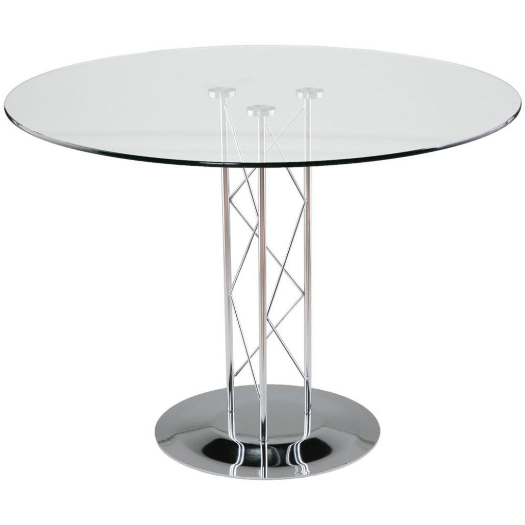 "Most Recent Taby 32"" Dining Table With Chrome Base 32"" Top Chrome Column Within Chrome Contemporary Square Casual Dining Tables (Gallery 27 of 30)"