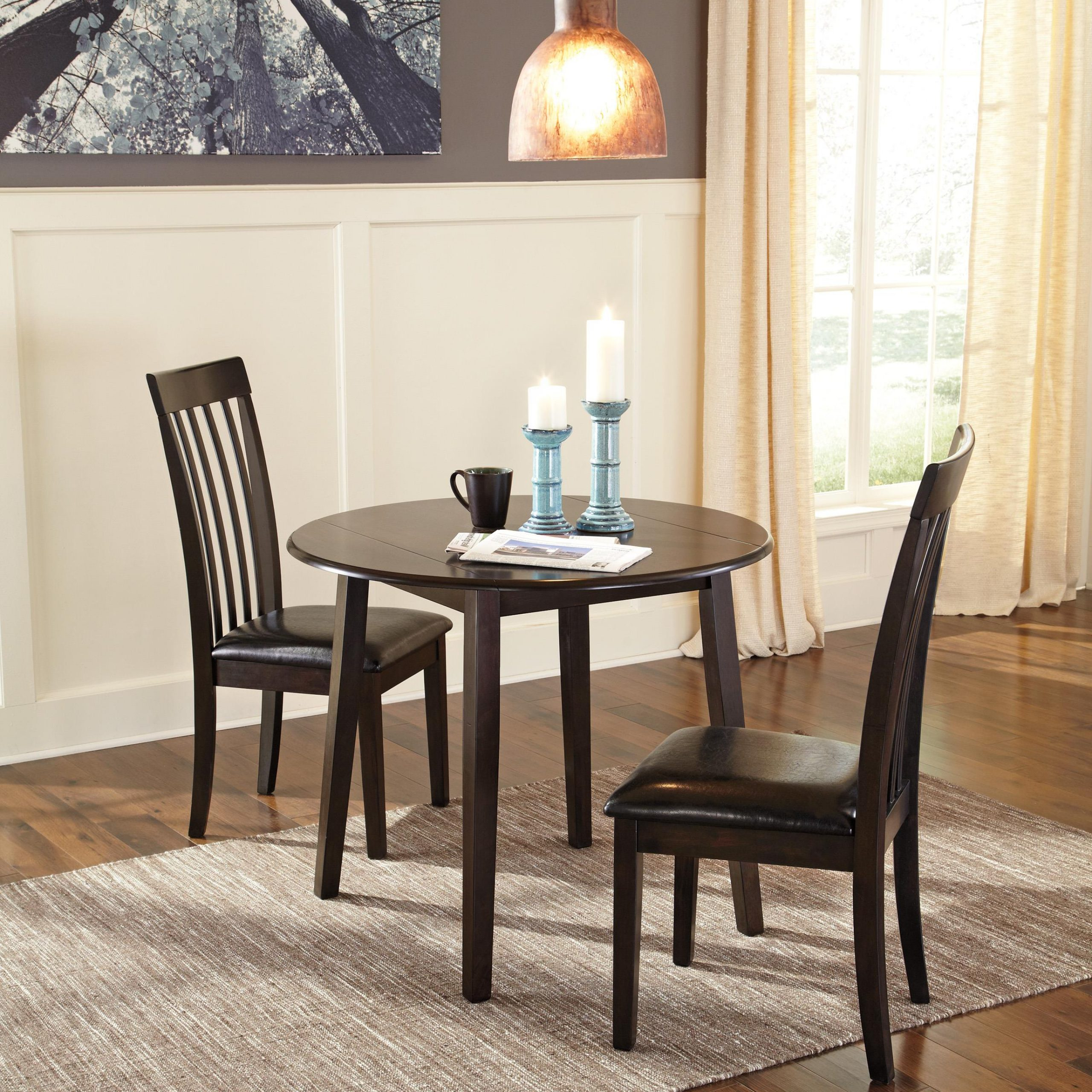 Most Recent Transitional 3 Piece Drop Leaf Casual Dining Tables Set Pertaining To Hammis (D310)Signature Designashley – Home (View 11 of 30)