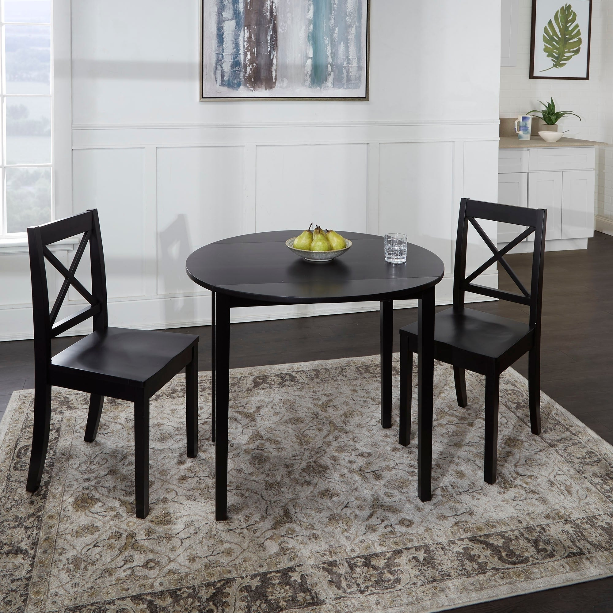 Most Recent Transitional 3 Piece Drop Leaf Casual Dining Tables Set With Murphy 3 Piece Drop Leaf Dining Set (View 12 of 30)