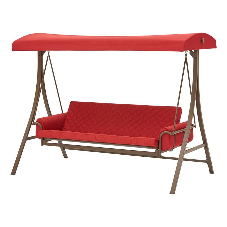 Most Recently Released 2 Person Light Teak Oil Wood Outdoor Swings With Porch Swings & Gliders At Lowes (View 28 of 30)