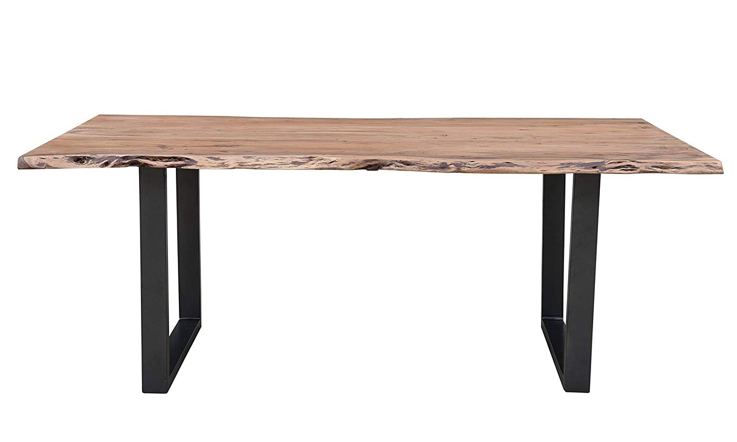 "Most Recently Released Acacia Dining Tables With Black X Leg Intended For Amazon – Cambridge Aya 79"" Natural Finish Acacia Wood (Gallery 28 of 30)"