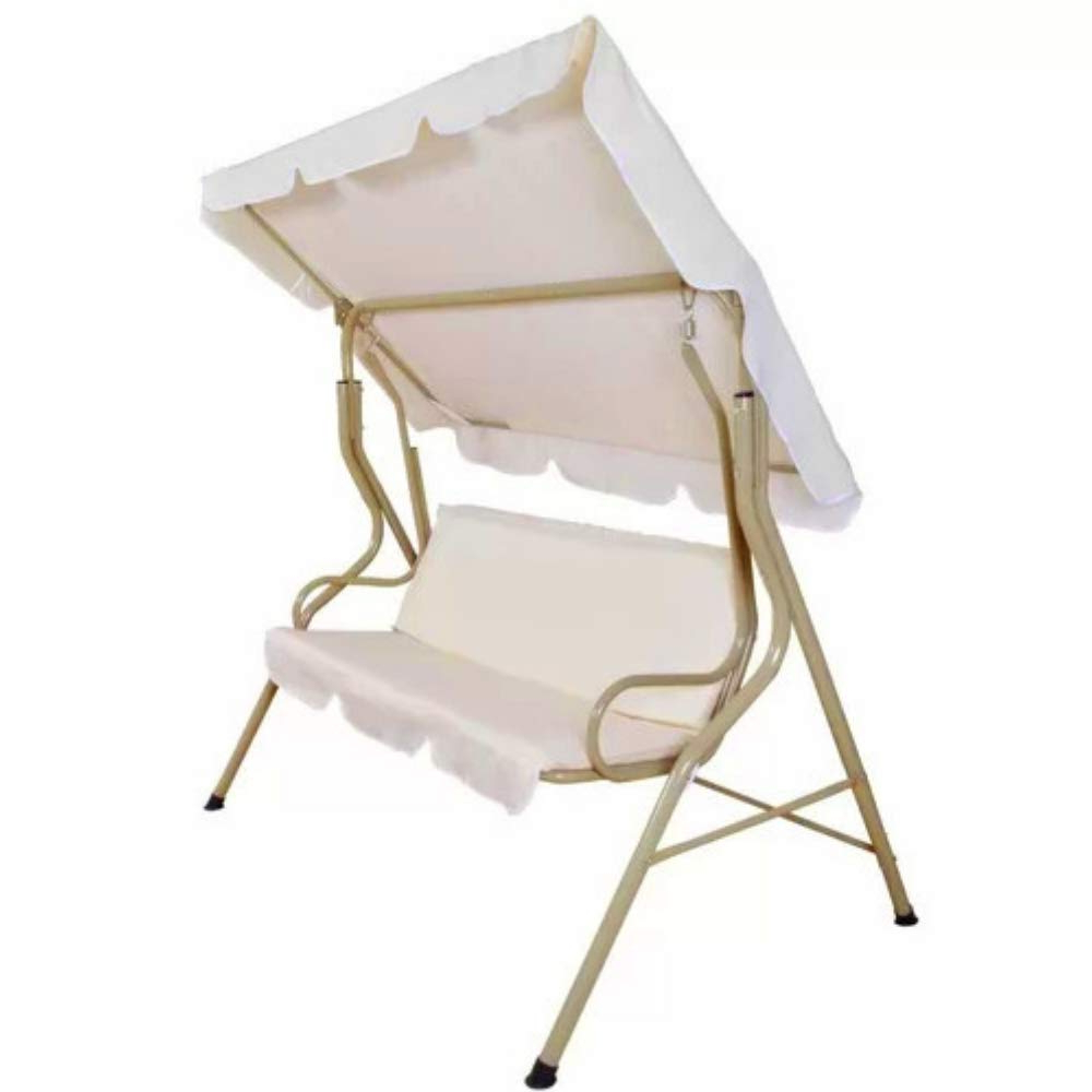 Most Recently Released Amazon : Bs Outdoor Swing With Canopy Covered Porch Inside 2 Person Outdoor Convertible Canopy Swing Gliders With Removable Cushions Beige (View 13 of 30)