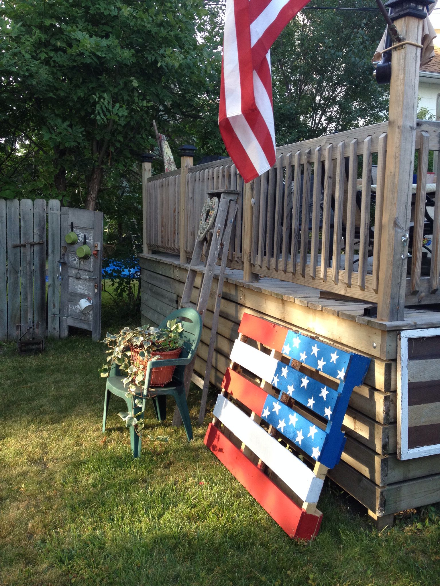 Most Recently Released Another Pallet Flag For The Yard (View 19 of 30)