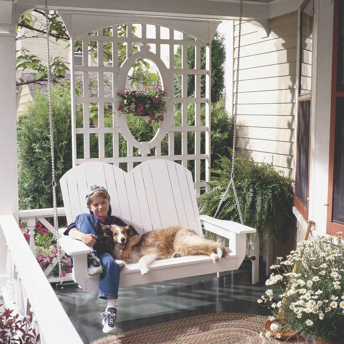 Most Recently Released Contoured Classic Porch Swings Within 10 Pretty Porch Swings – The Family Handyman (View 22 of 30)