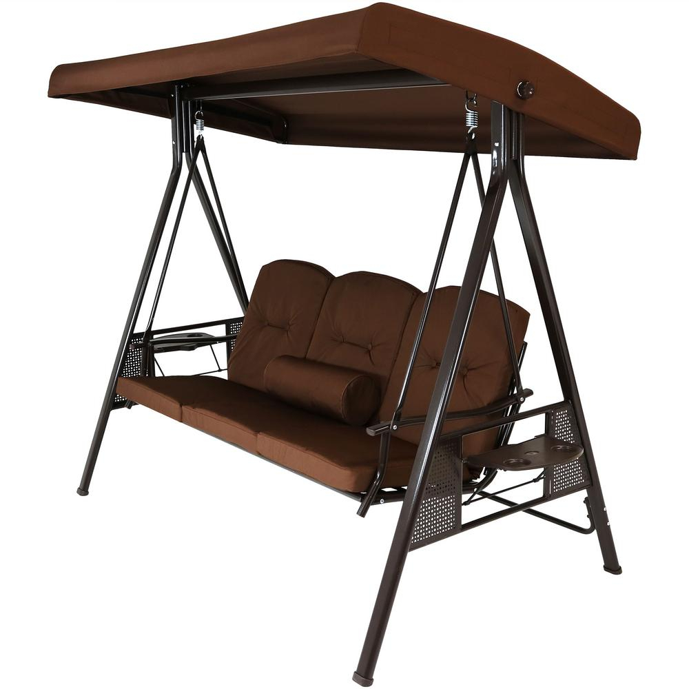 Most Recently Released Details About Patio Hanging Swing Chair Bench Outdoor Bed With Canopy Yard Garden Furniture For Canopy Porch Swings (Gallery 17 of 30)
