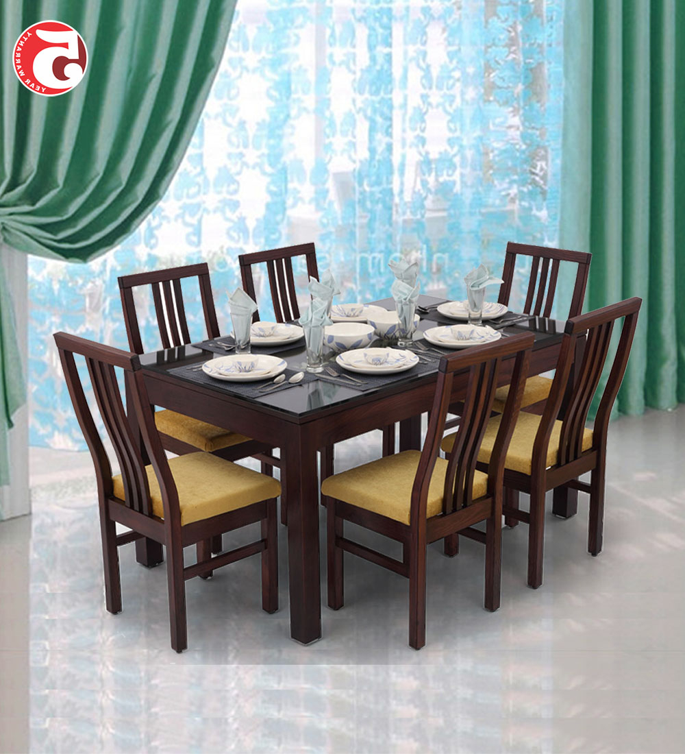 Most Recently Released Glass And Wood Dining Tables Desire Rectangular Table Set With 6 Seater Retangular Wood Contemporary Dining Tables (View 15 of 30)