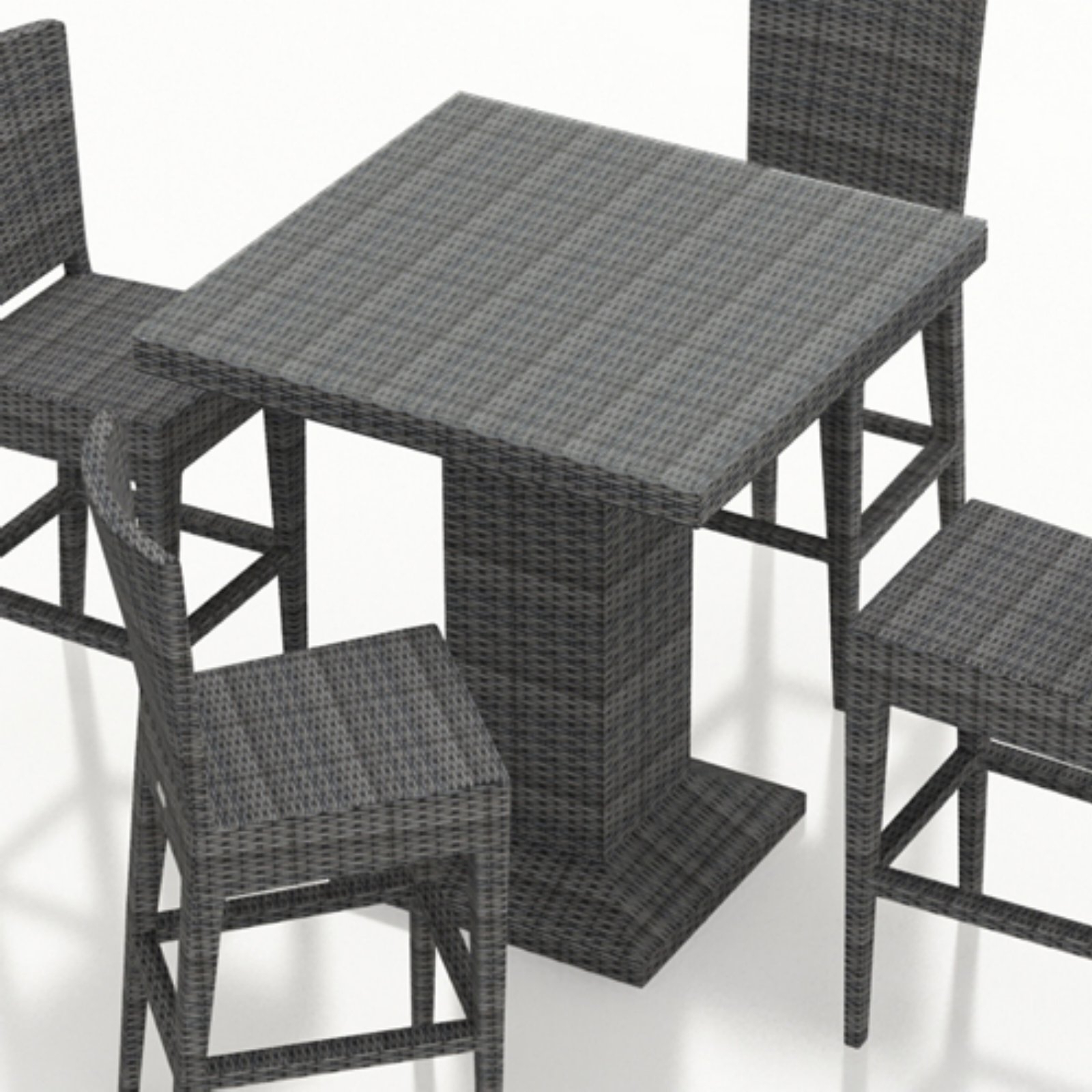 Most Recently Released Outdoor Harmonia Living District Resin Wicker Square Bar Within Patio Square Bar Dining Tables (View 22 of 30)