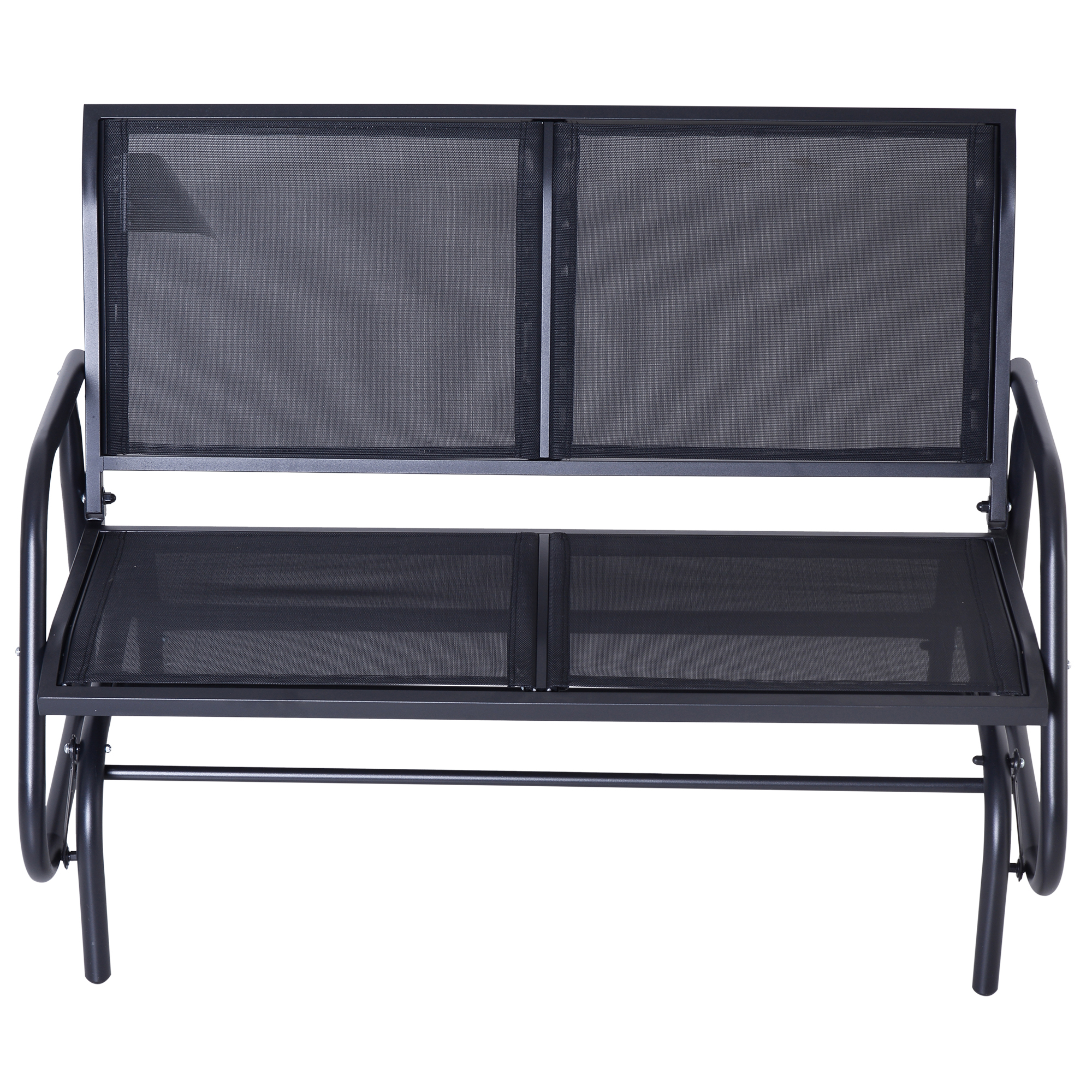 Most Recently Released Outsunny Steel Sling Fabric Outdoor Double Glider Rocking In Outdoor Fabric Glider Benches (View 10 of 30)