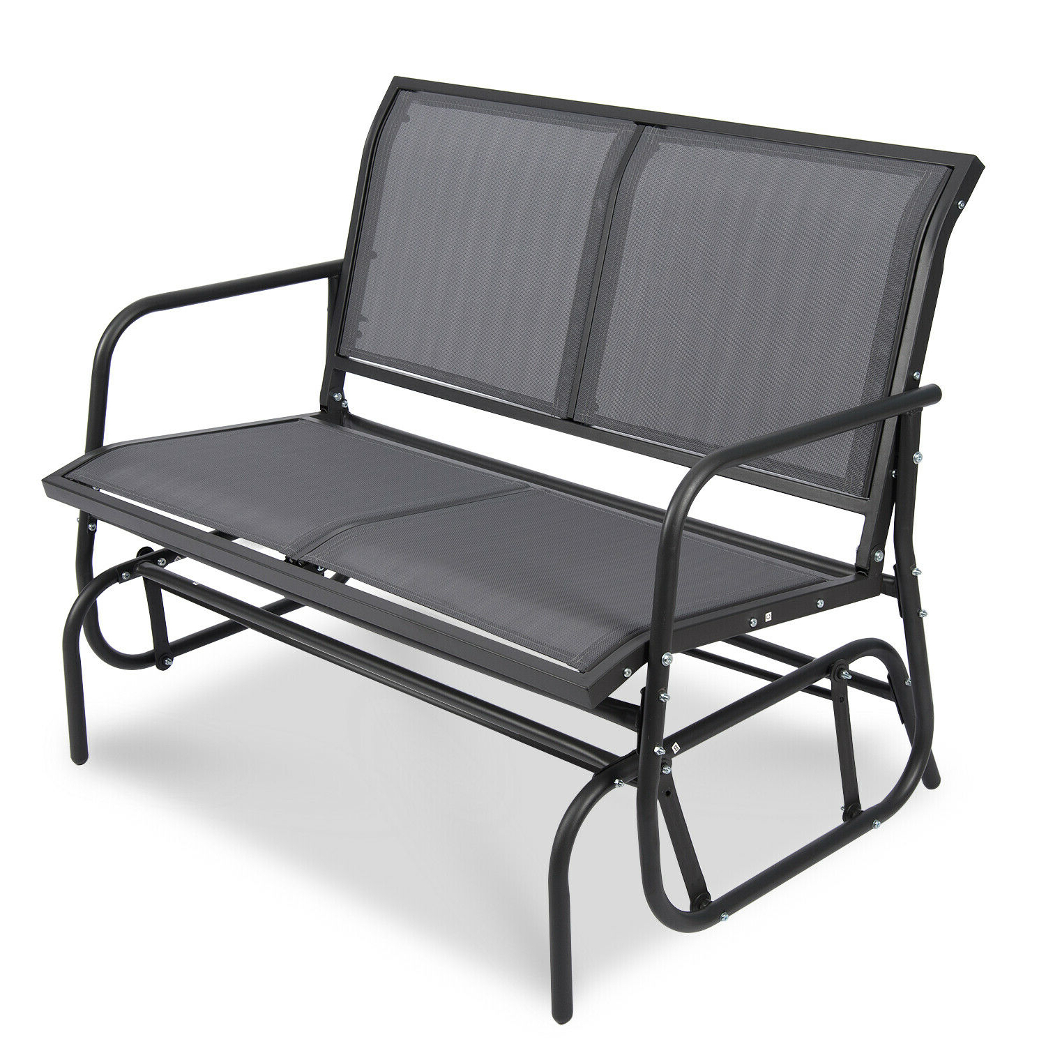 Most Recently Released Patio Garden Glider 2 Person Swing Bench Rocking Chair Porch Outdoor Furniture With Regard To Outdoor Patio Swing Glider Bench Chair S (View 14 of 30)