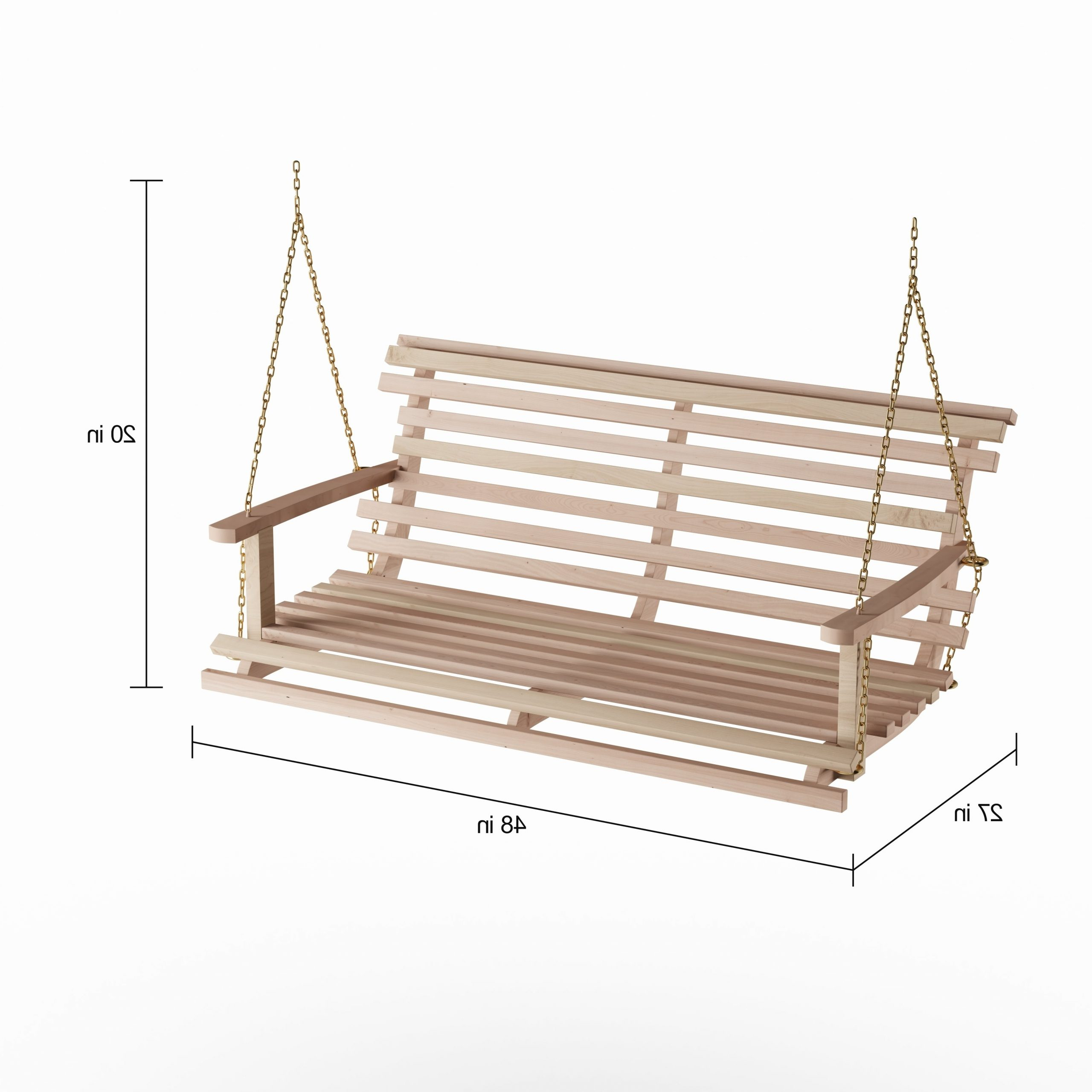 Most Recently Released Porch Swings With Chain With Regard To Havenside Home Goodwin Acasia Wood Bench Swing With Chain (View 7 of 30)