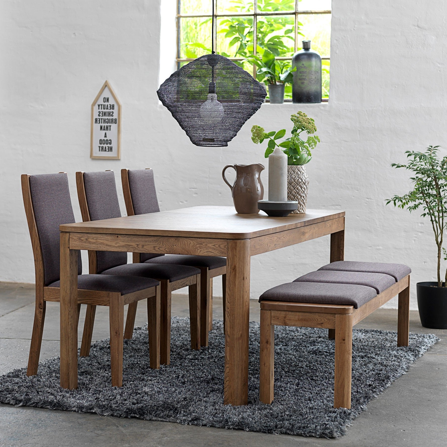Most Recently Released Thick White Marble Slab Dining Tables With Weathered Grey Finish With 50+ Dining Table With Bench You'll Love In 2020 – Visual Hunt (View 14 of 30)