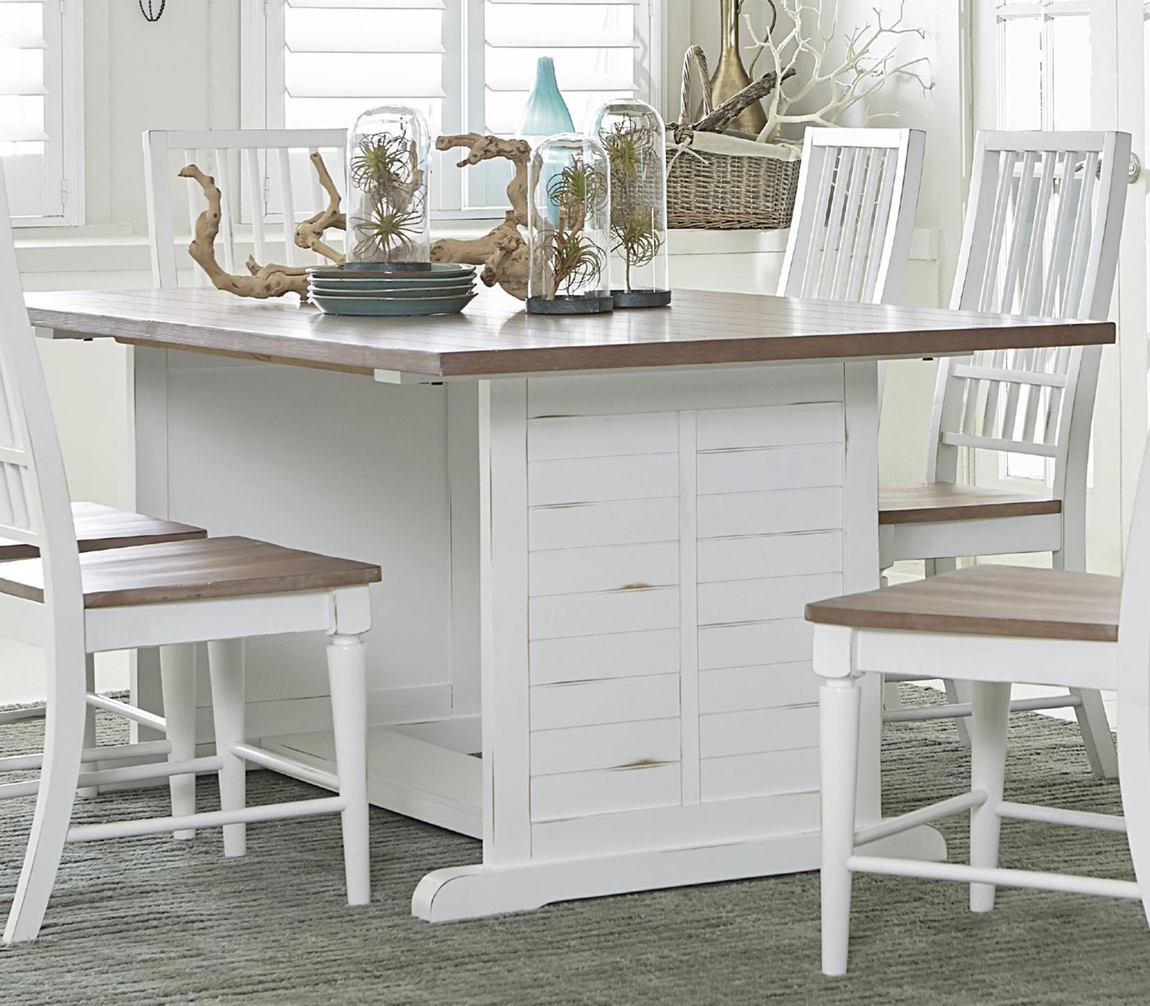 Most Recently Released Transitional Rectangular Dining Tables Inside Progressive Furniture Shutters Transitional Rectangular (View 19 of 30)