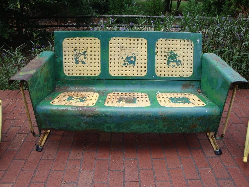 Most Recently Released Vintage Metal Porch Glider Chair — Randolph Indoor And In Metal Retro Glider Benches (Gallery 26 of 30)