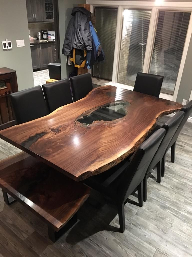 Most Recently Released Walnut Finish Live Edge Wood Contemporary Dining Tables For Live Edge Table, Single Slab Table, Mappa Table, Burl Table (View 12 of 30)