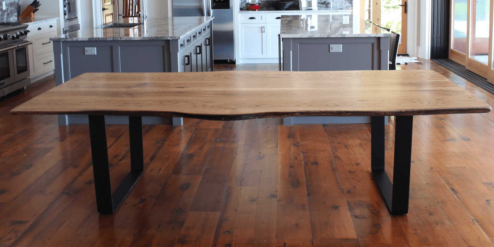 Most Recently Released Walnut Finish Live Edge Wood Contemporary Dining Tables Within Home – Living Wood Design Toronto & Muskoka Ontario Canada (View 8 of 30)