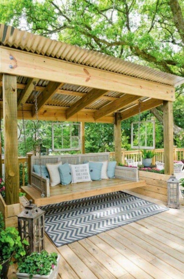 Most Up To Date 27 Finest Rural Porch Swing Ideas For Backyard – Page 29 Of Within Patio Gazebo Porch Swings (Gallery 19 of 30)