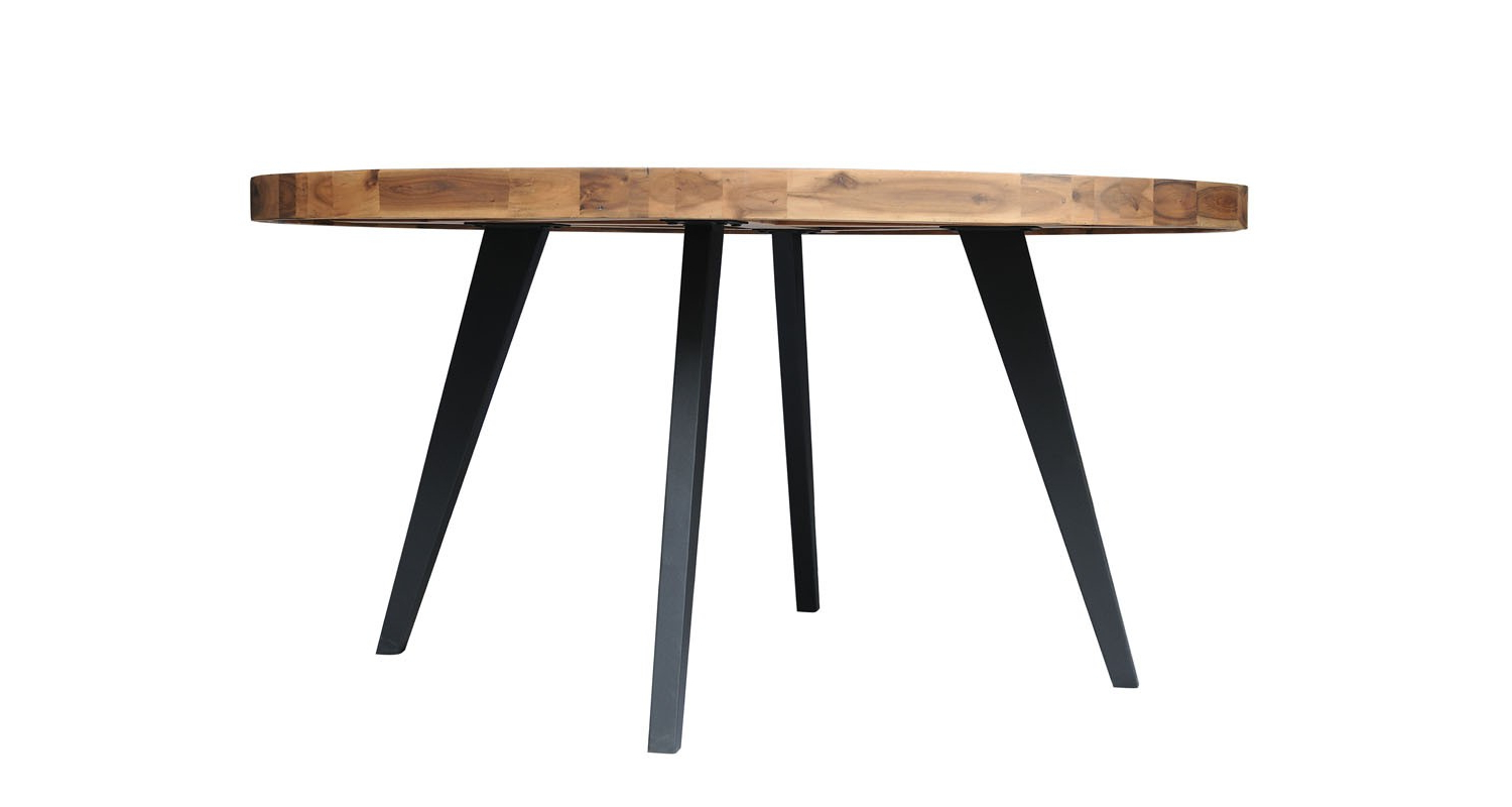 Most Up To Date Acacia Dining Tables With Black Legs For Avalon Round Dining Table – Large (View 21 of 30)