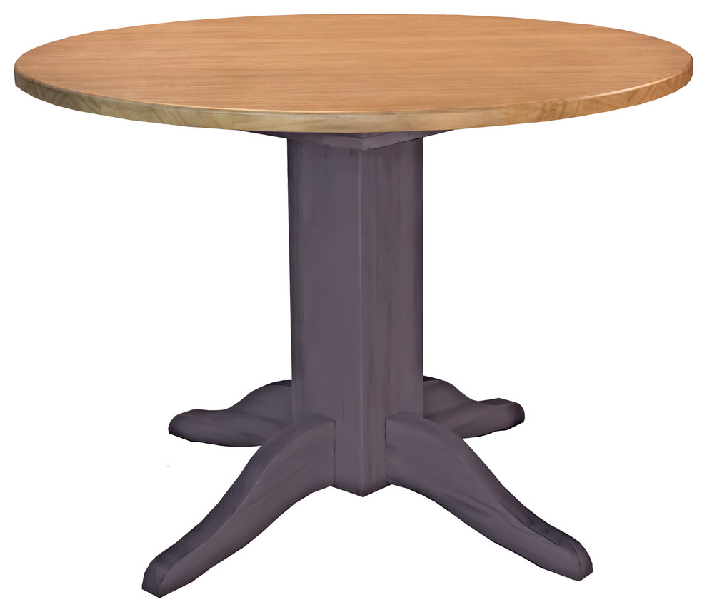 "Most Up To Date Alamo Transitional 4 Seating Double Drop Leaf Round Casual Dining Tables Within A America Port Townsend 42"" Double Drop Leaf Table (View 4 of 19)"