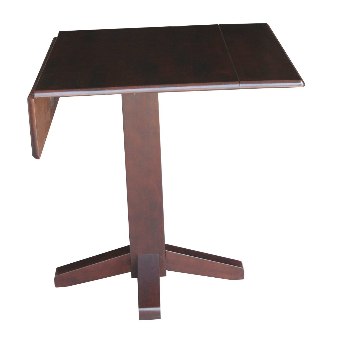 Most Up To Date Amazon – International Concepts Brown Wood 36 Inch With Transitional Antique Walnut Drop Leaf Casual Dining Tables (View 6 of 30)