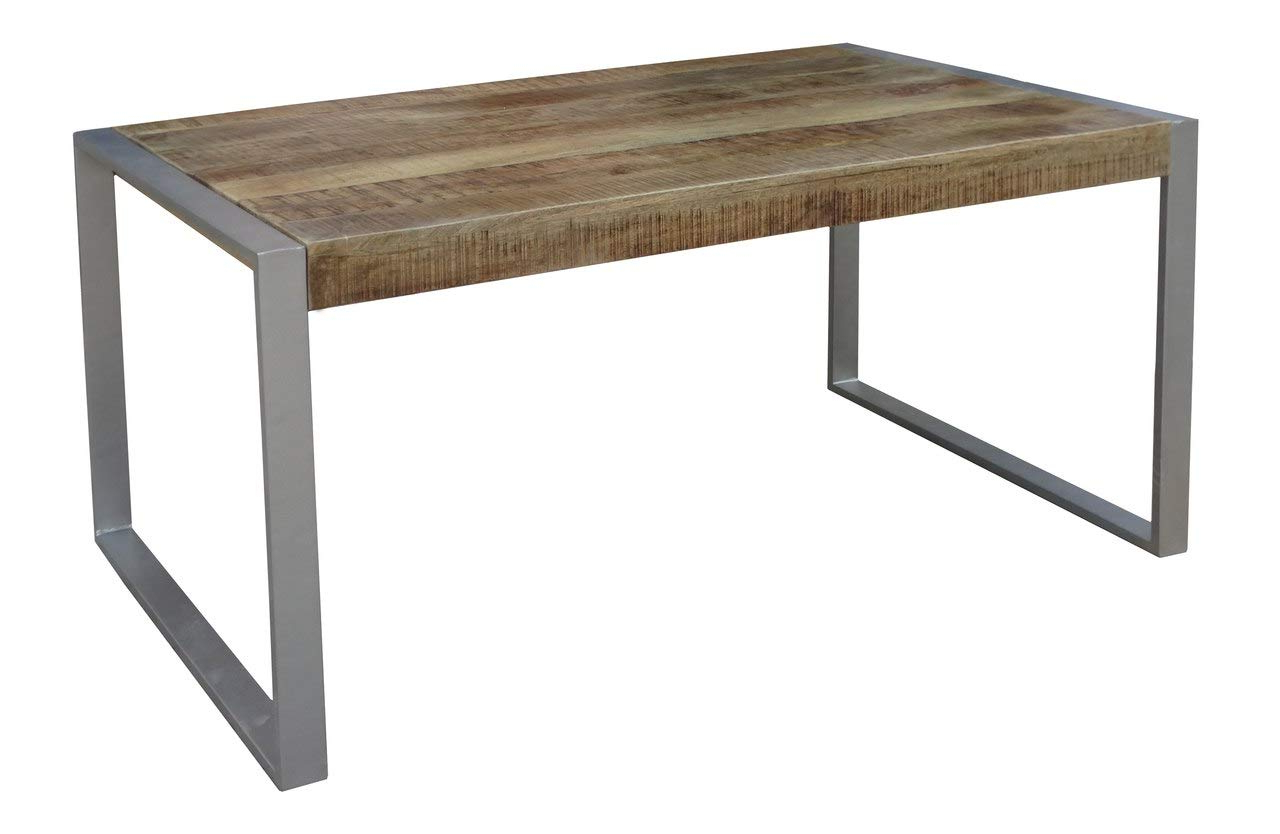 Most Up To Date Amazon – Timbergirl Aa1510 Reclaimed Wood Silver Metal Intended For Iron Dining Tables With Mango Wood (Gallery 7 of 30)