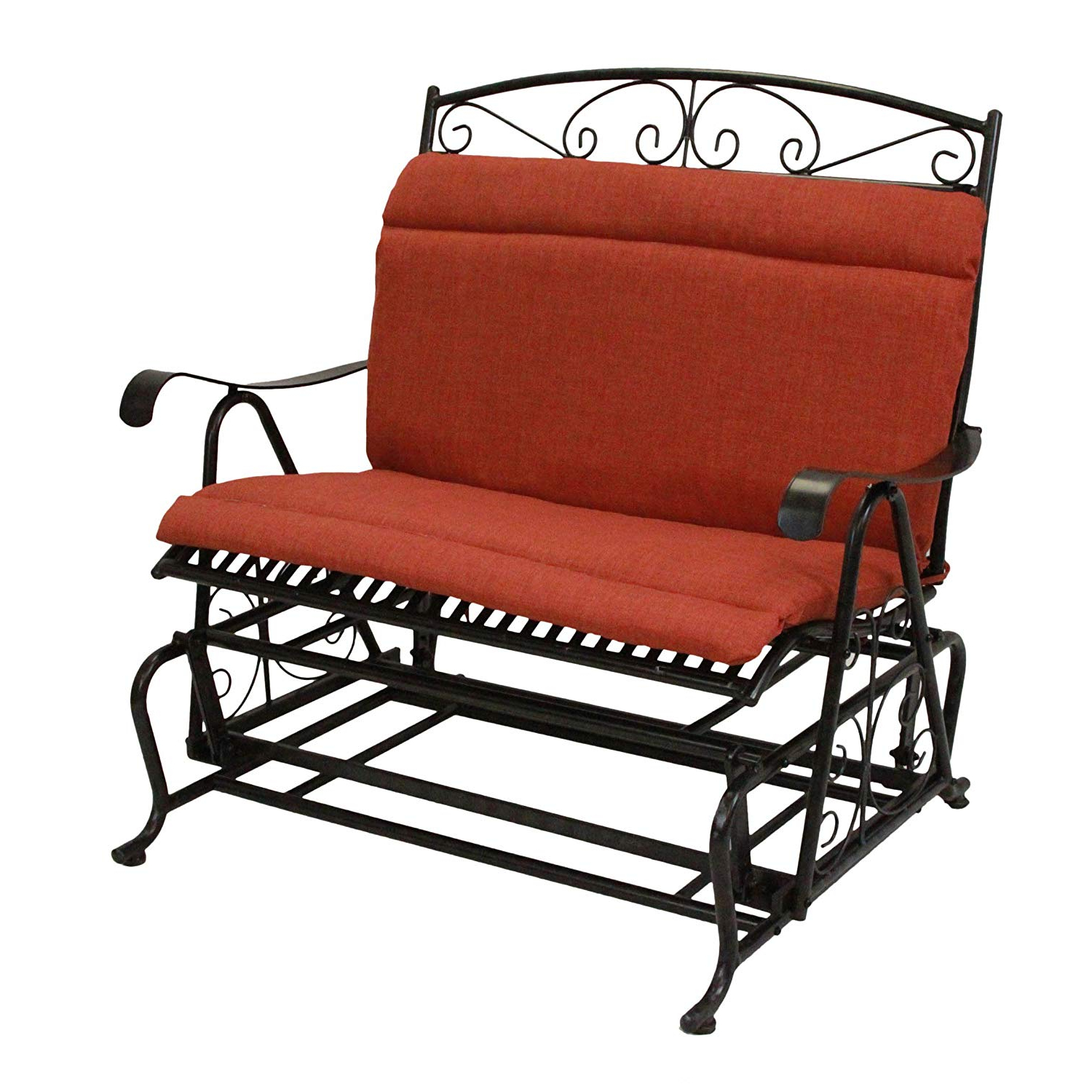 Most Up To Date Double Glider Benches With Cushion For Amazon : Matts Global Modern Contemporary Solid All (Gallery 10 of 30)