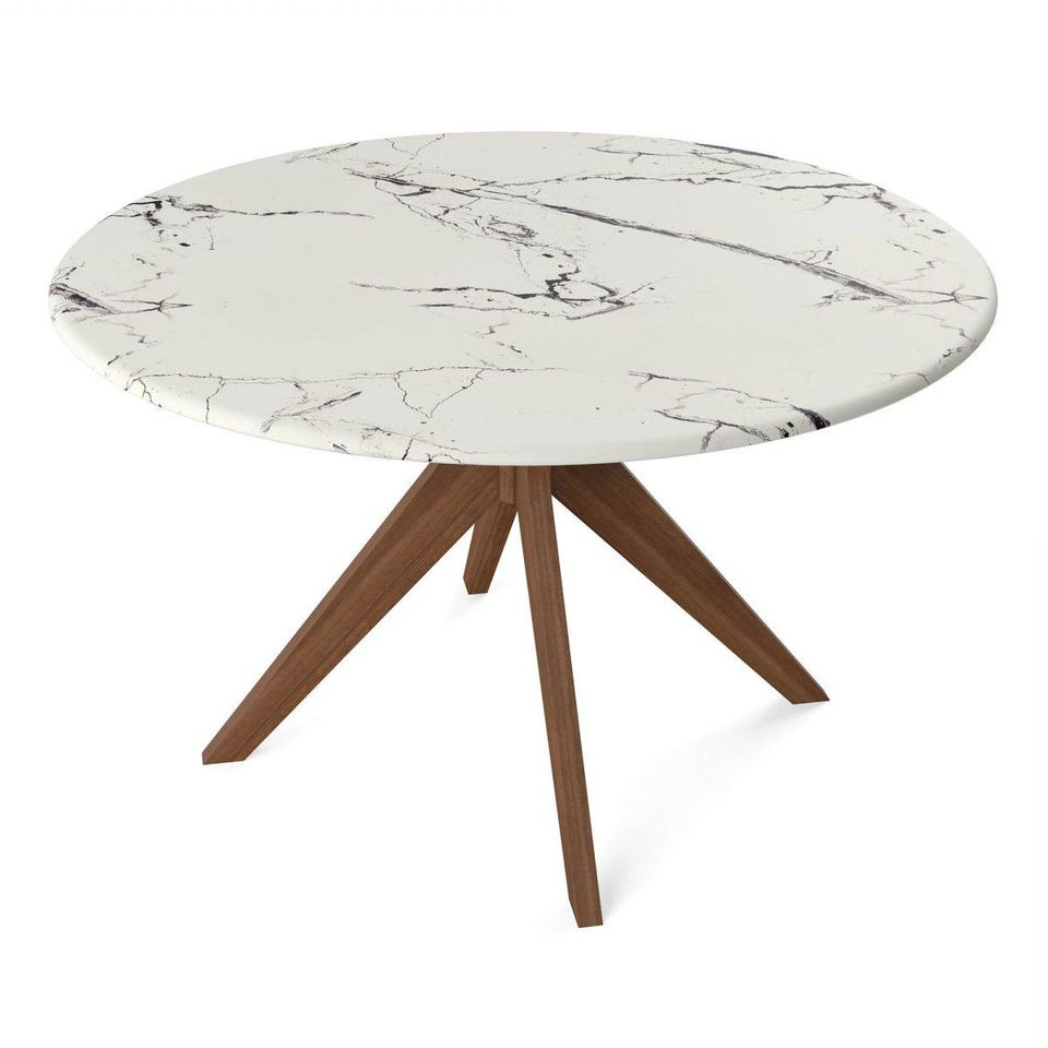 Most Up To Date Faux Marble Finish Metal Contemporary Dining Tables Intended For 7 Round Dining Room Tables Perfect For Small Spaces (View 18 of 30)