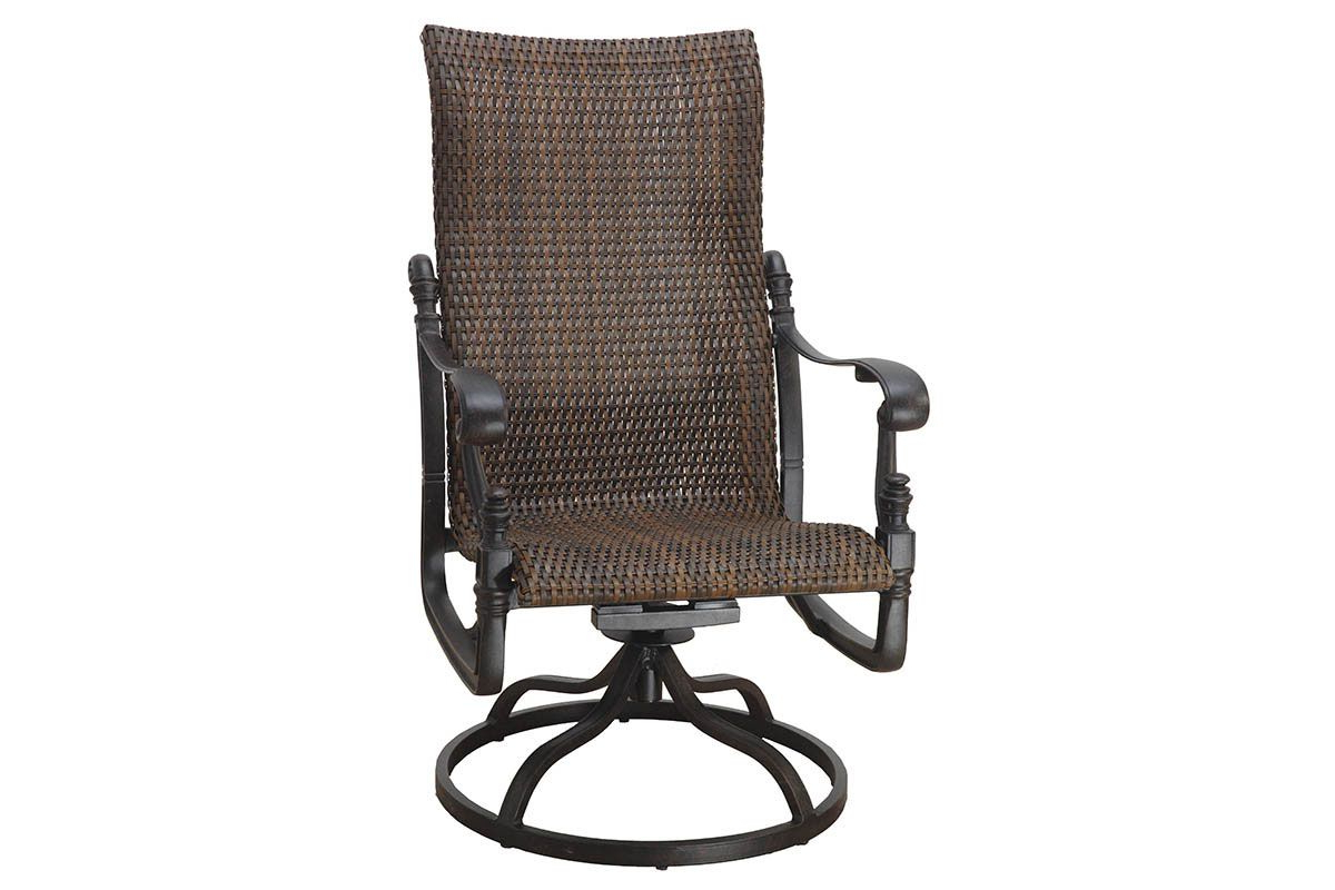 Most Up To Date Florence Woven High Back Swivel Rocker 70230011 For Woven High Back Swivel Chairs (View 6 of 30)