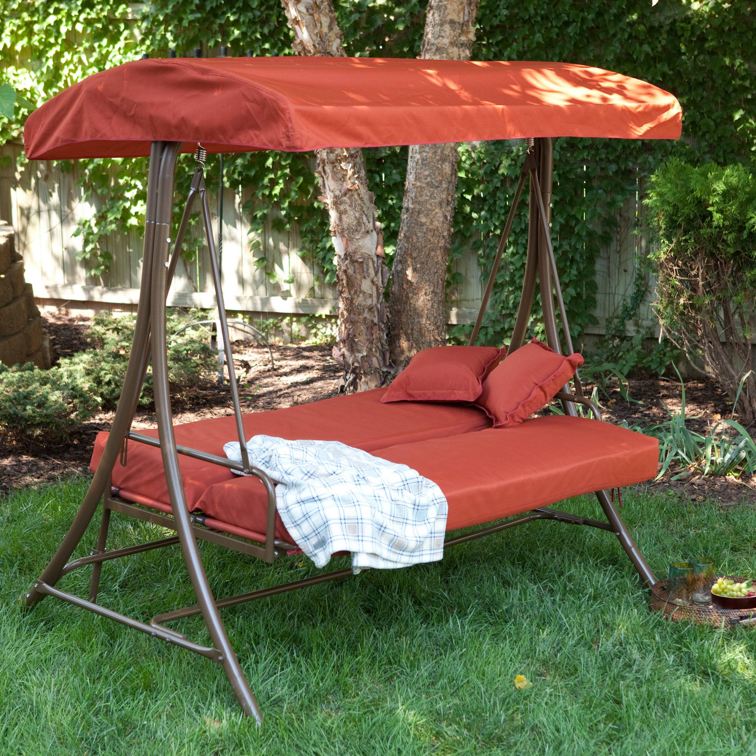 Most Up To Date Hammock Patio Backyard Deck Ideas Dining Set Umbrella With Inside Porch Swings With Canopy (View 21 of 30)