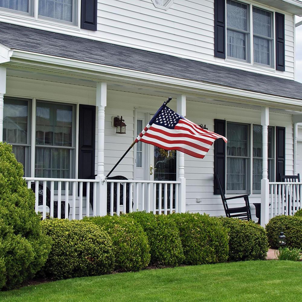 Most Up To Date How To Display An American Flag – The Home Depot Intended For American Flag Porch Swings (View 22 of 30)