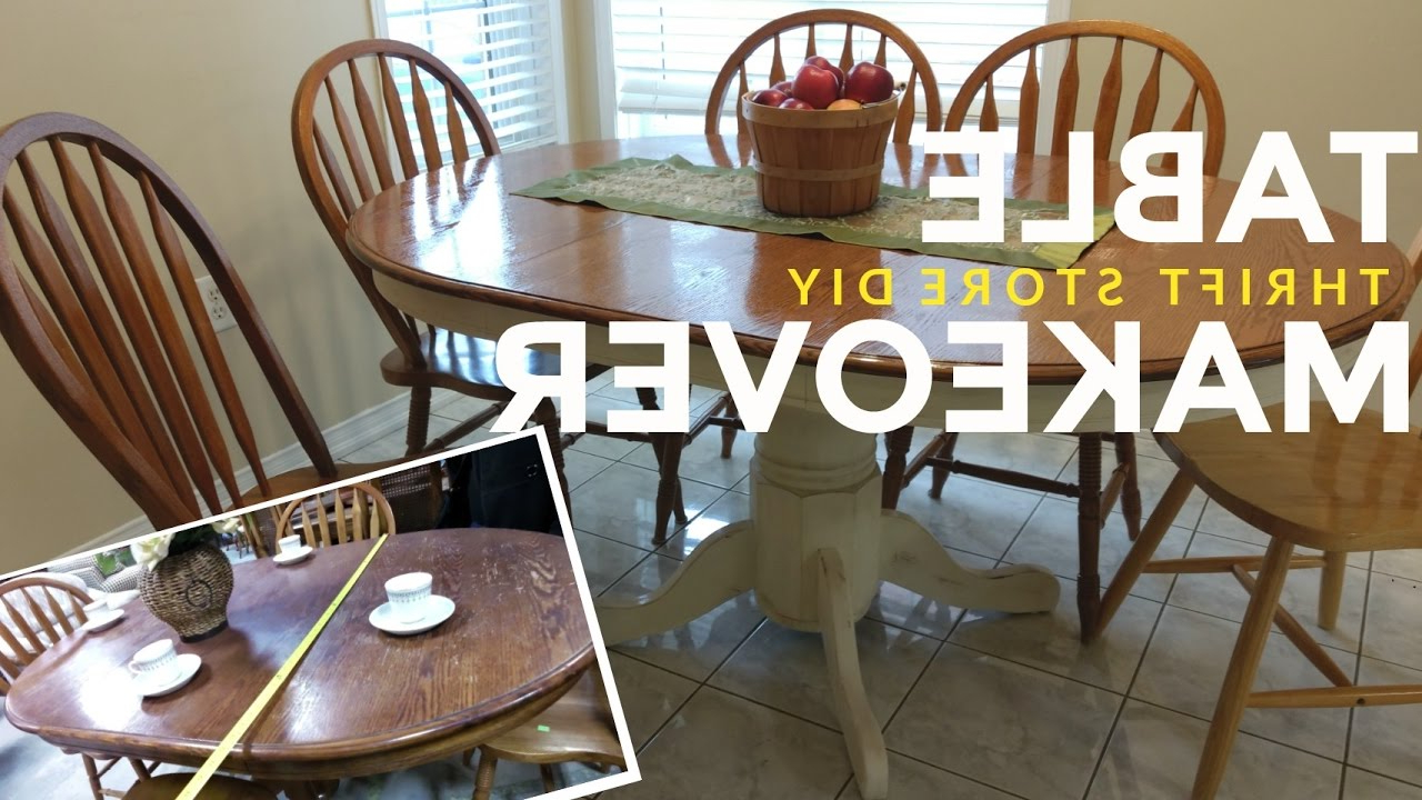 Most Up To Date How To Refinish A Kitchen Dining Table: Vintage / Shabby Chic / Farmhouse  Style! With Regard To Walnut And Antique White Finish Contemporary Country Dining Tables (View 12 of 30)