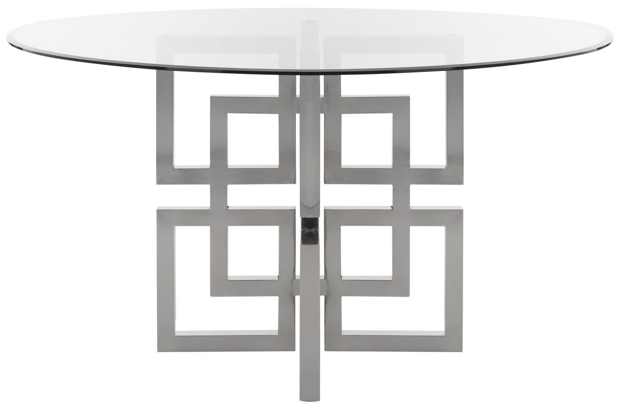 Most Up To Date Long Dining Tables With Polished Black Stainless Steel Base Intended For Fox9052a 2bx – Safavieh (View 19 of 30)