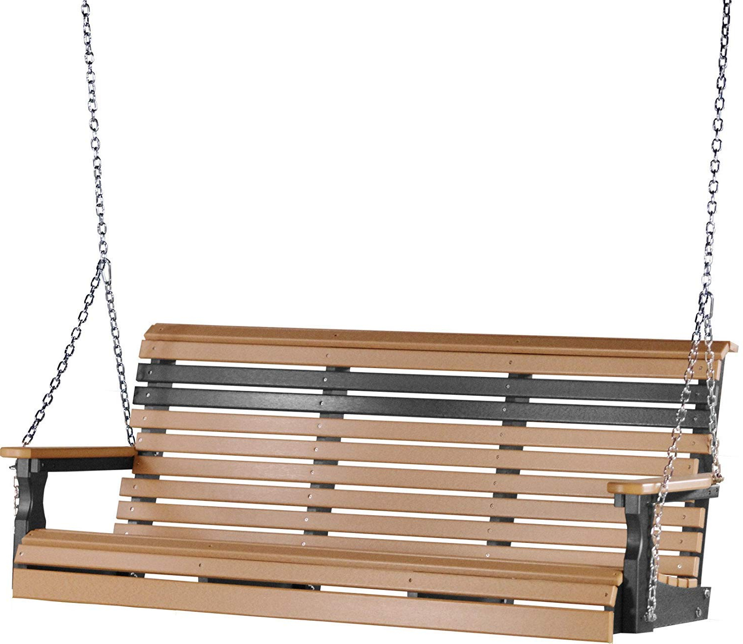 Most Up To Date Luxcraft Rollback 5ft Recycled Plastic Porch Swing Pertaining To Plain Porch Swings (View 5 of 30)